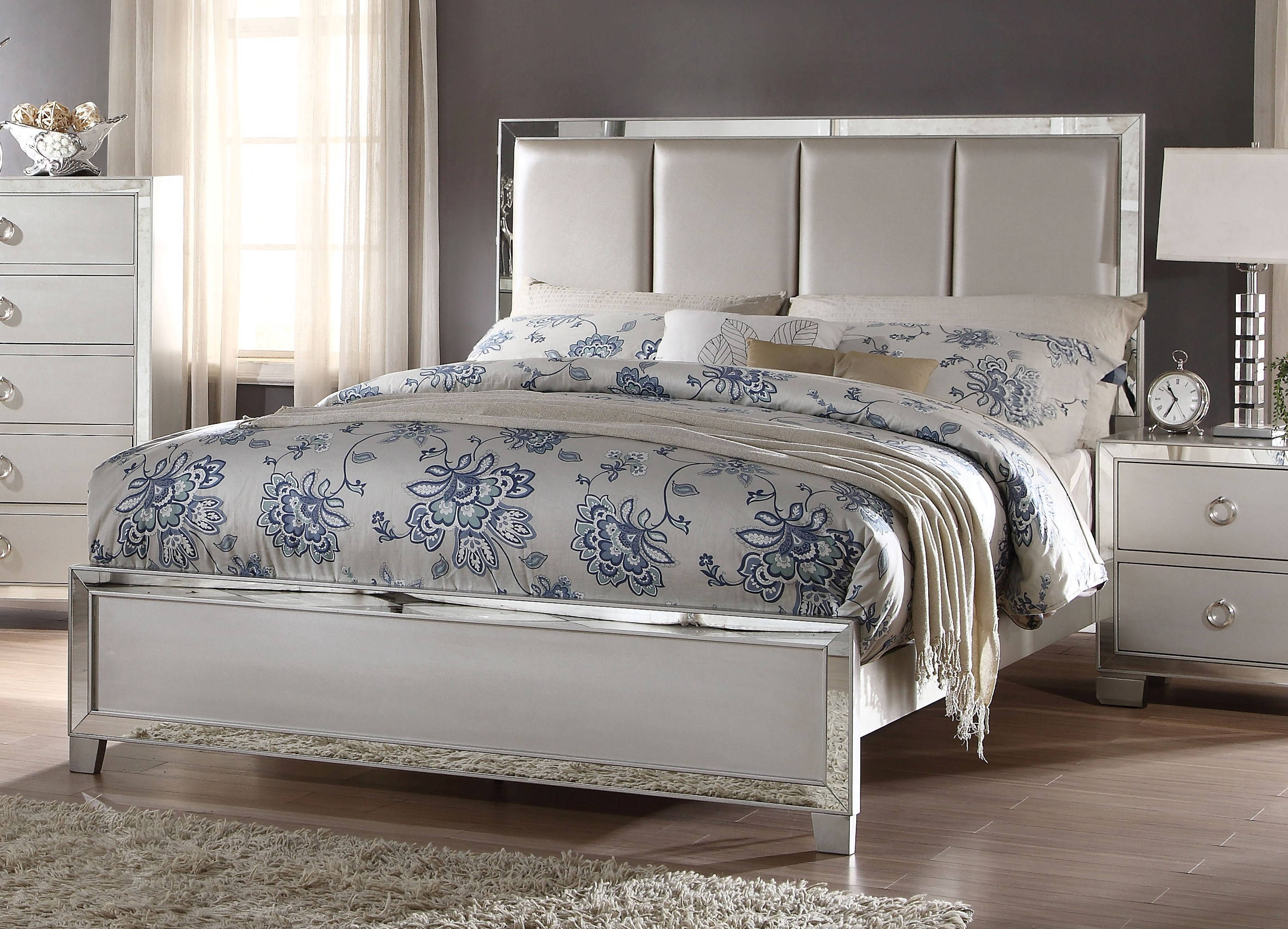 acme furniture voeville ii queen upholster bed the 13992 | acm 24830q