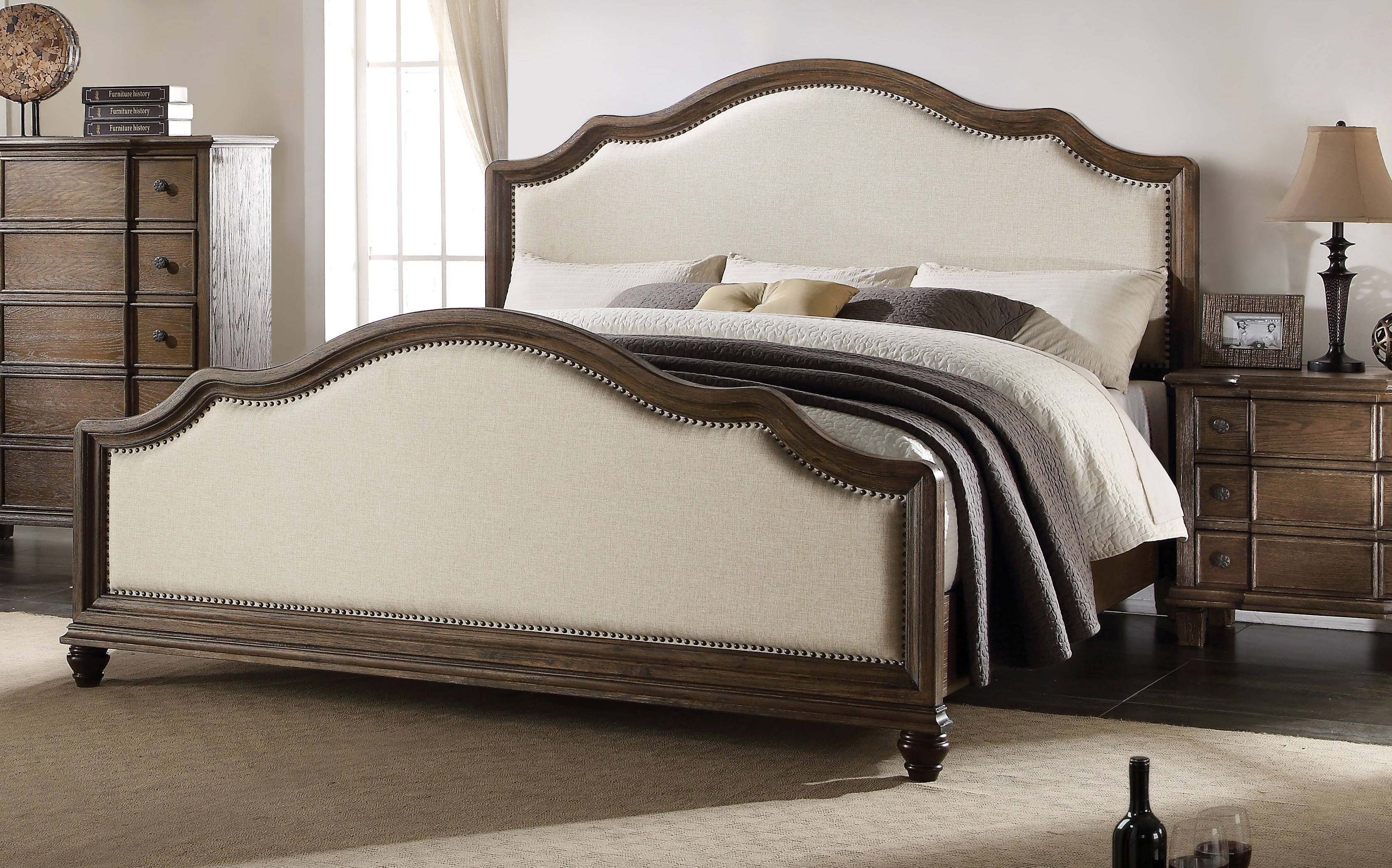 Acme furniture baudouin king bed the classy home for Chaise baudouin