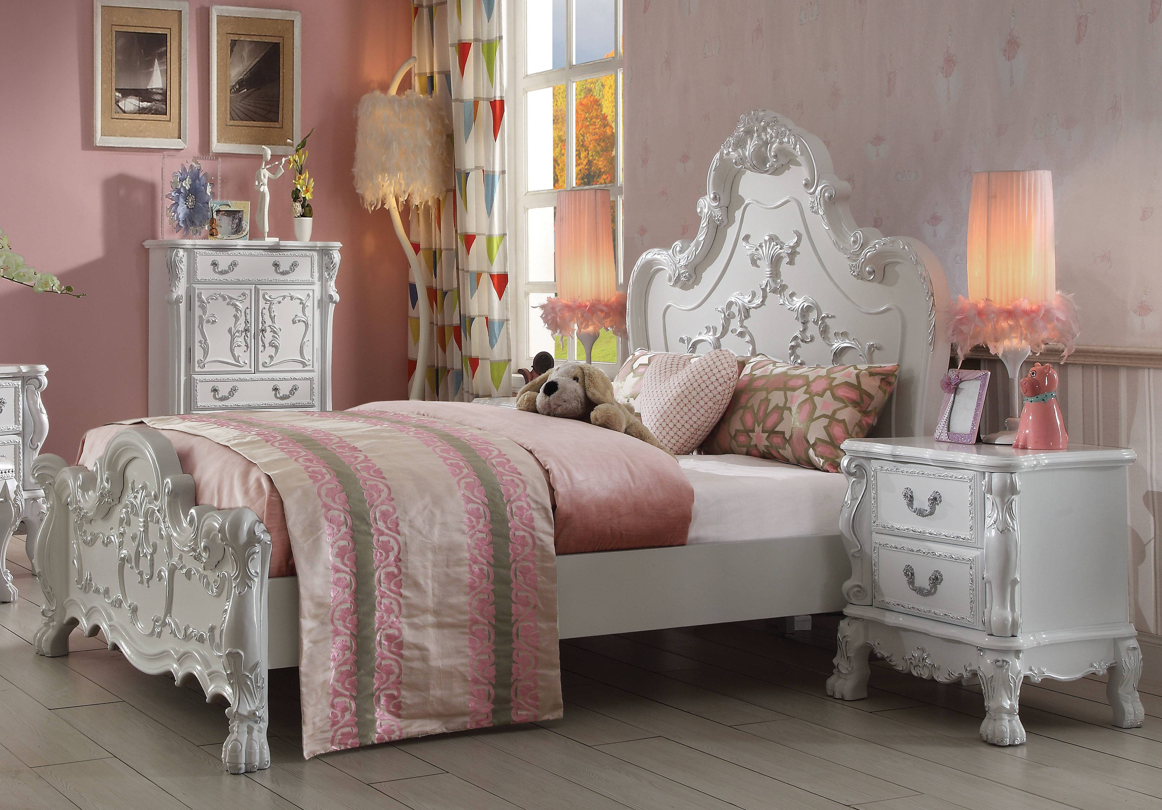 Acme Furniture Dresden Antique White 2pc Bedroom Set with ...