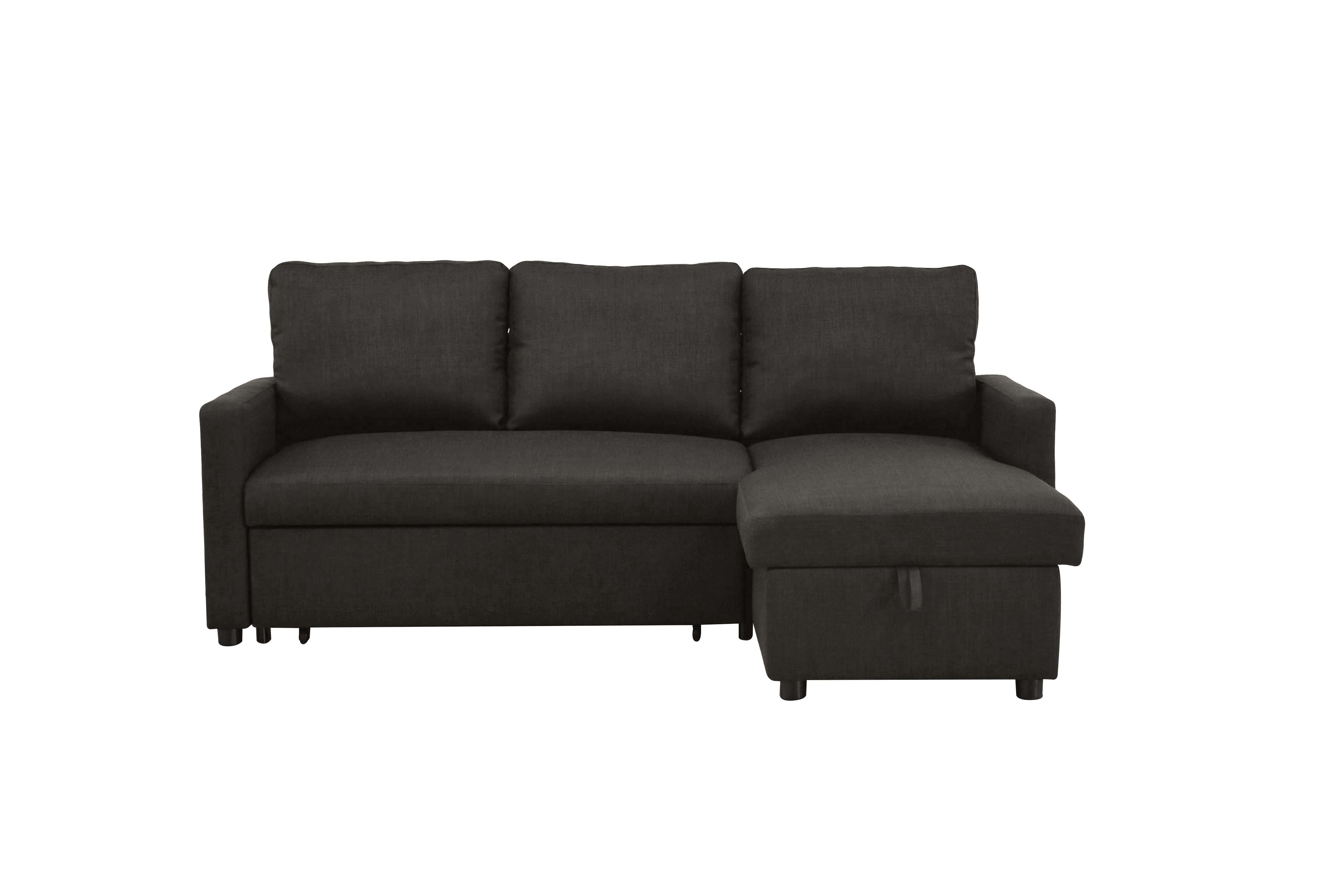Acme Furniture Hiltons Sleeper and Storage Sectional Sofa | The ...