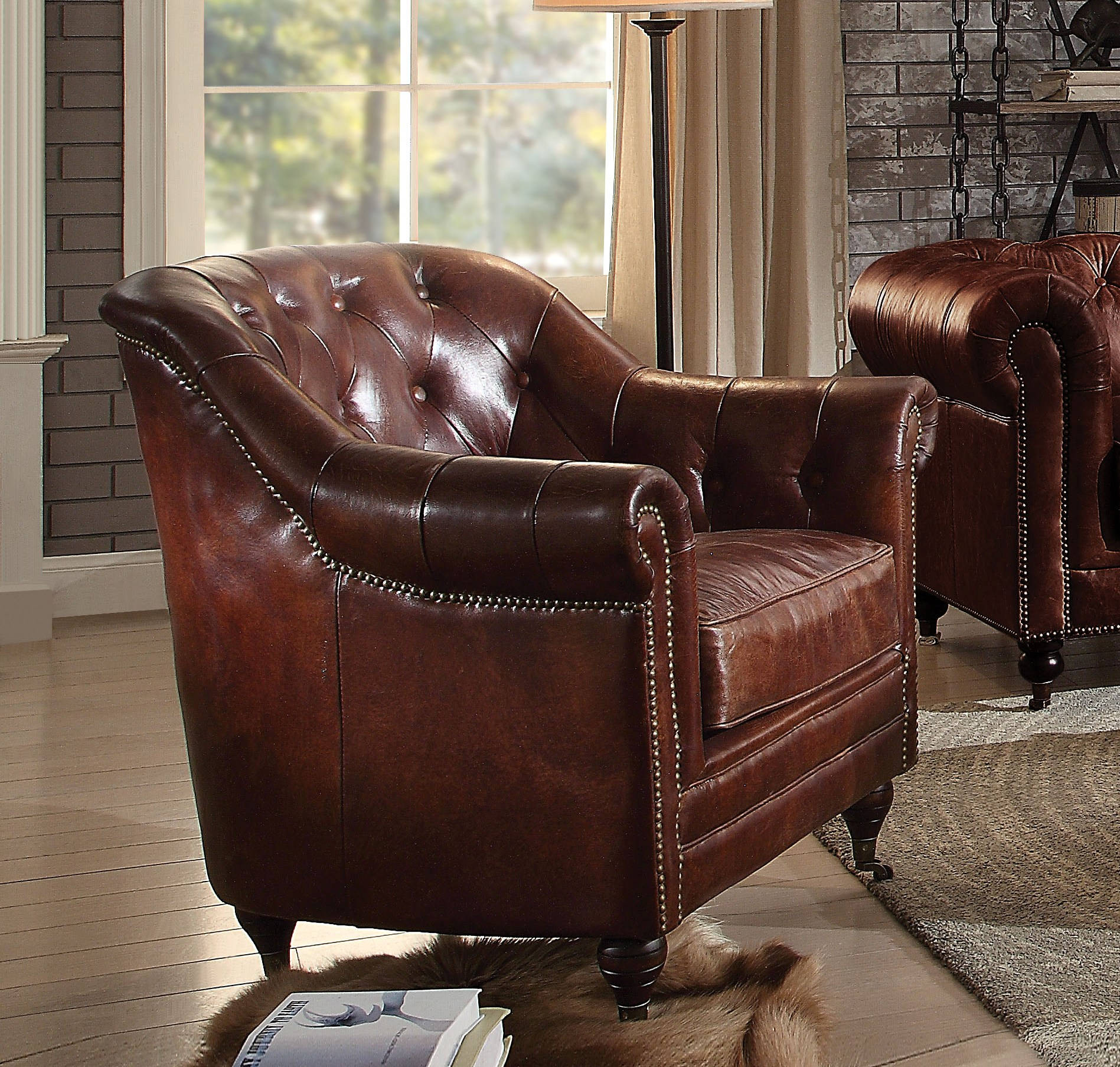 Acme Furniture Aberdeen Dark Brown Chair Click To Enlarge Loading.