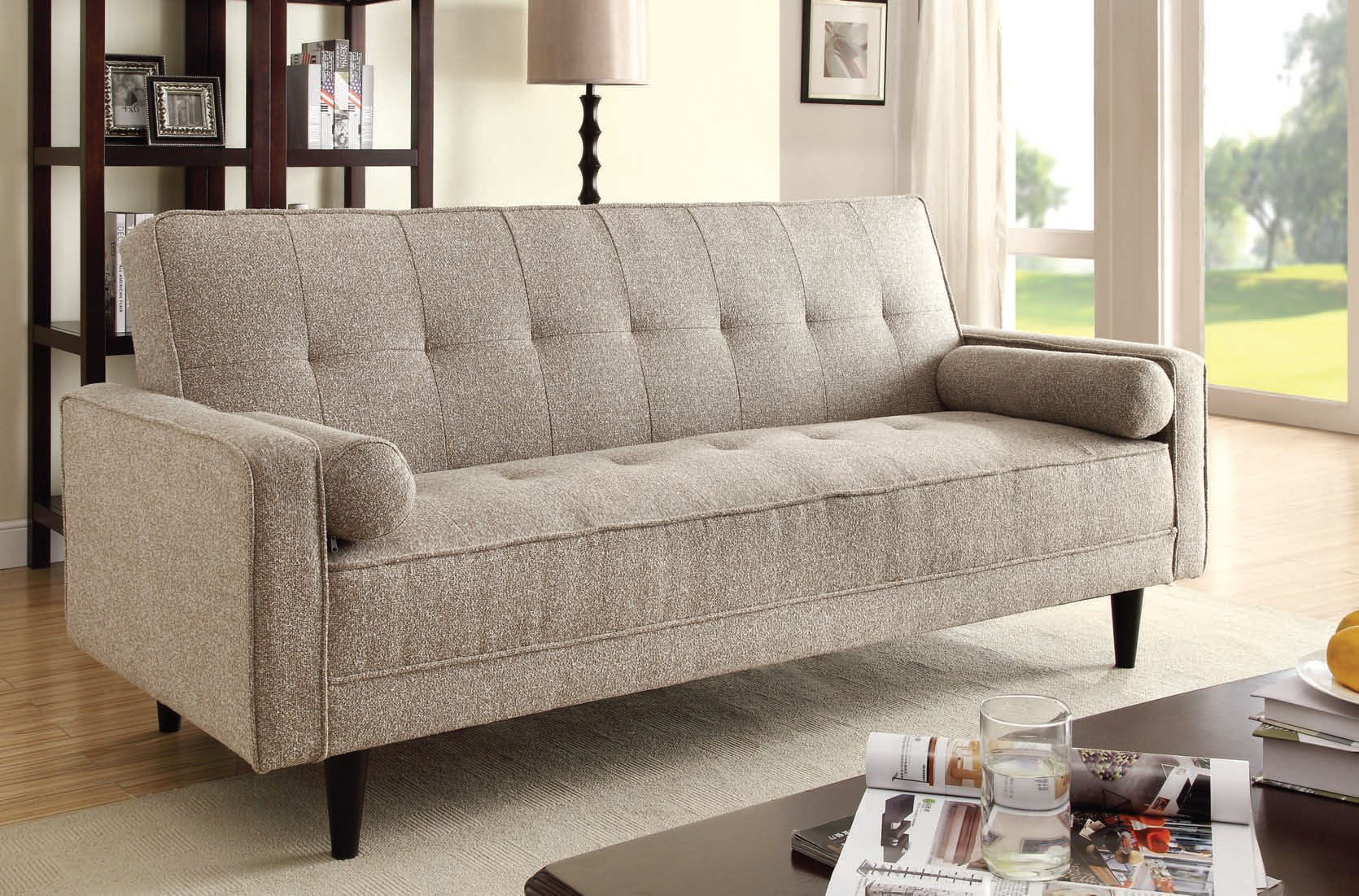 acme     acme furniture edana sand adjustable sofa with two pillows   the      rh   theclassyhome