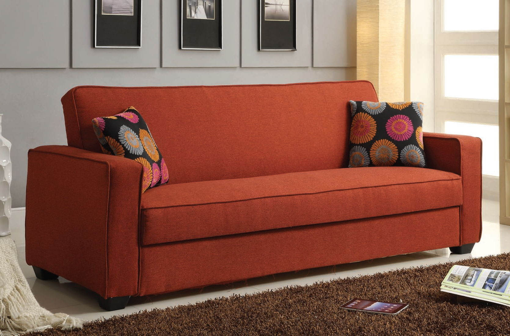 Acme Furniture Shani Red Adjustable Sofa The Classy Home