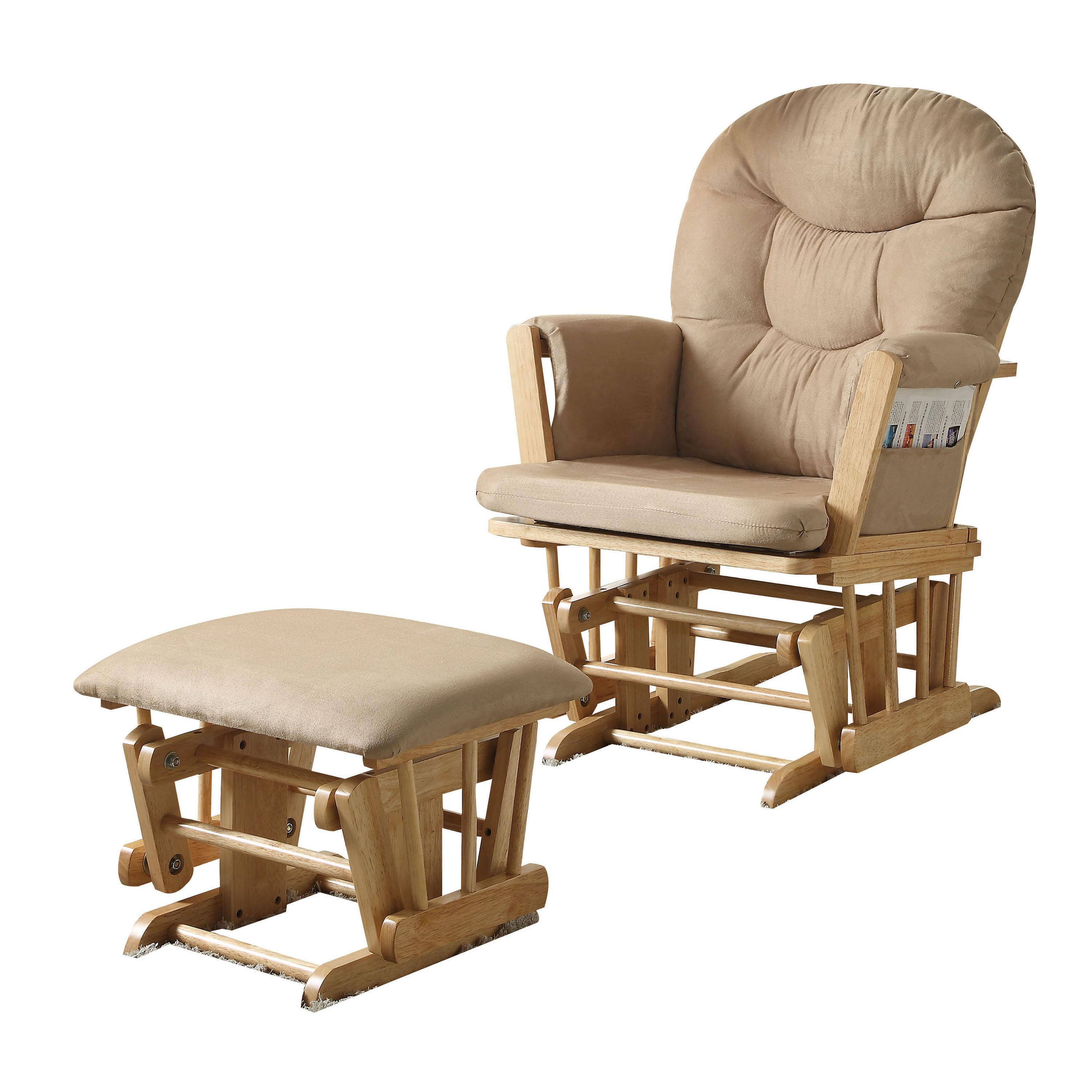 Acme Furniture Rehan 2pc Glider Chair And Ottoman Set