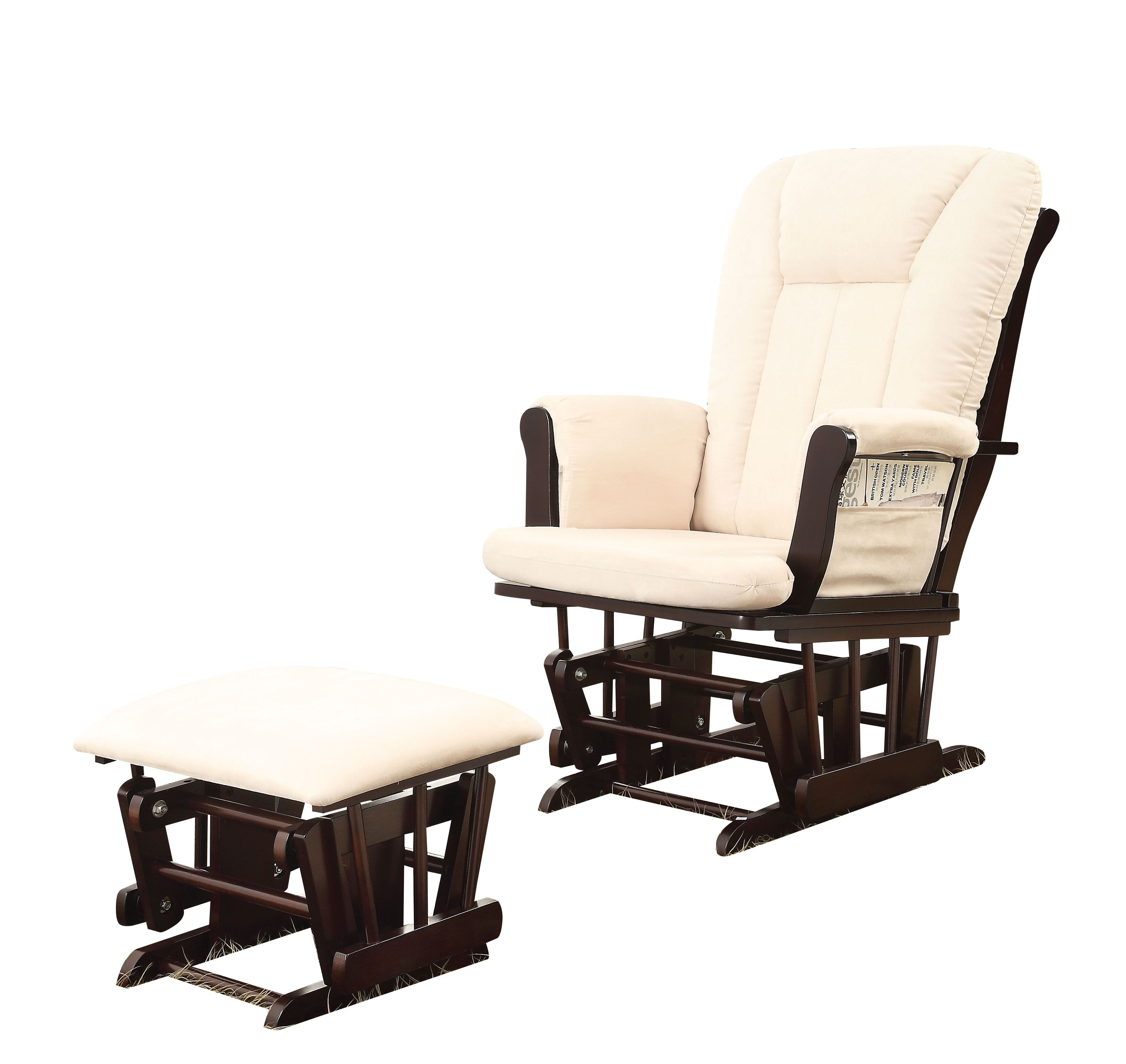 Acme Furniture Paola 2pc Glider Chair And Ottoman Set
