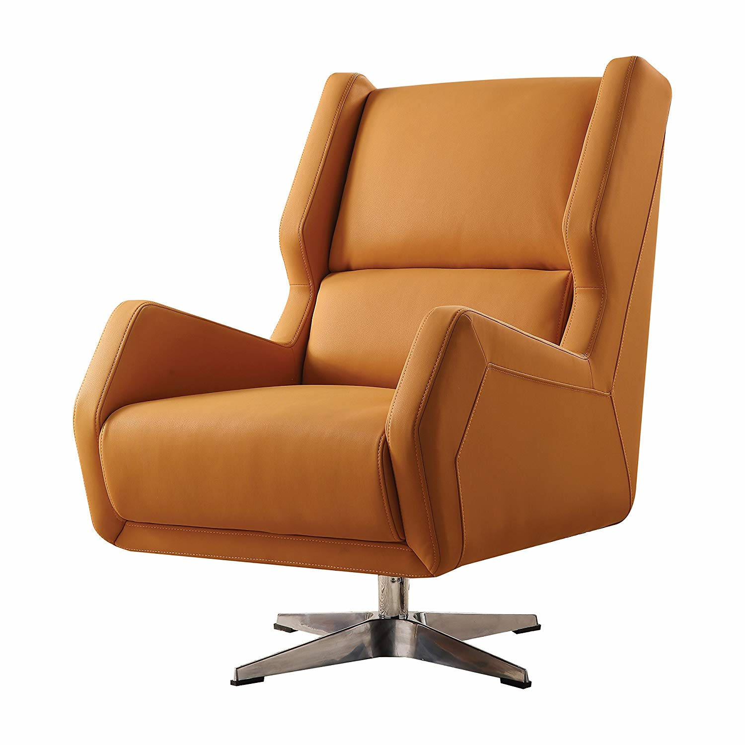 Astonishing Acme Furniture Eudora Ii Orange Accent Chair Gmtry Best Dining Table And Chair Ideas Images Gmtryco
