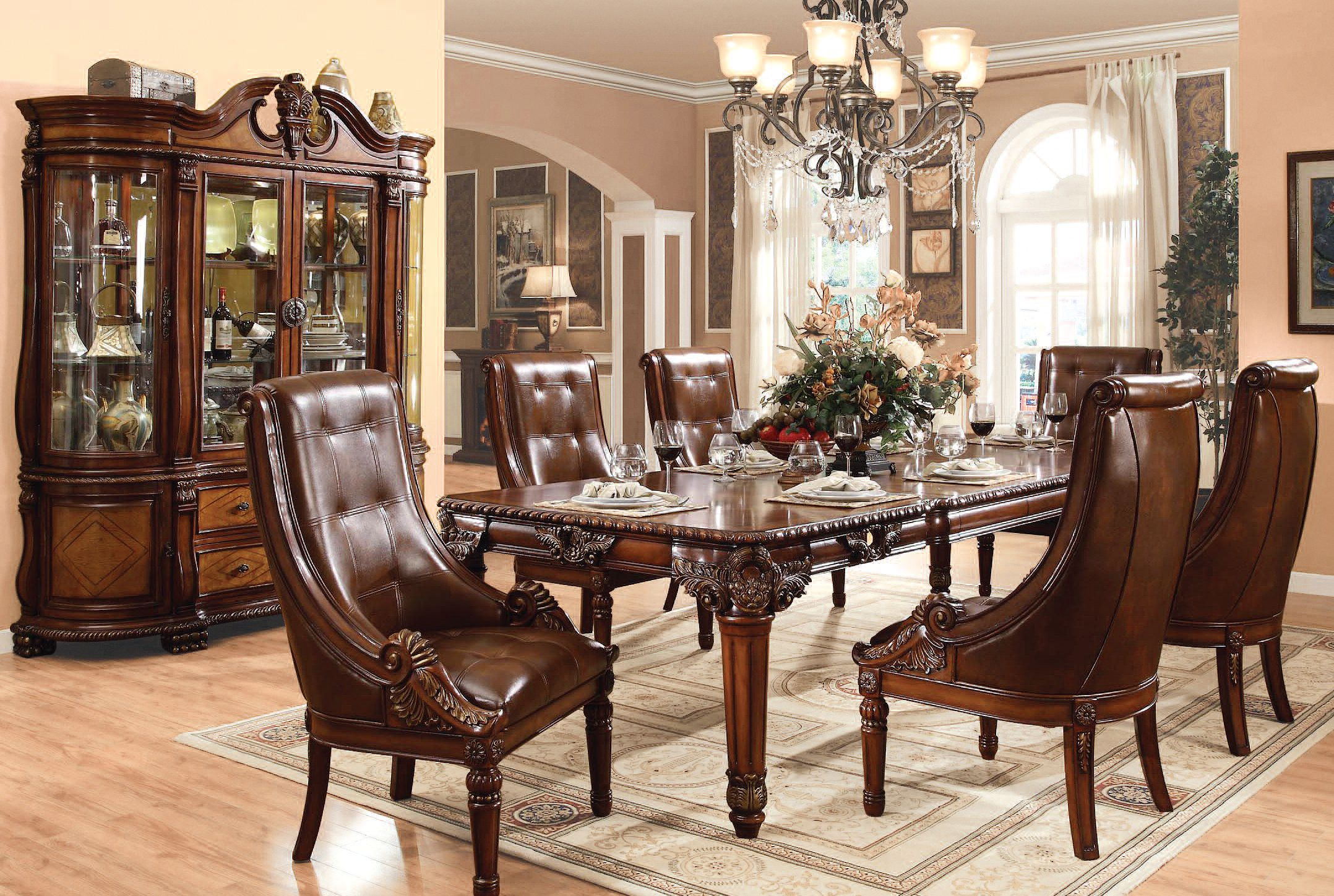 Acme Furniture Winfred Cherry 7pc Dining Room Set