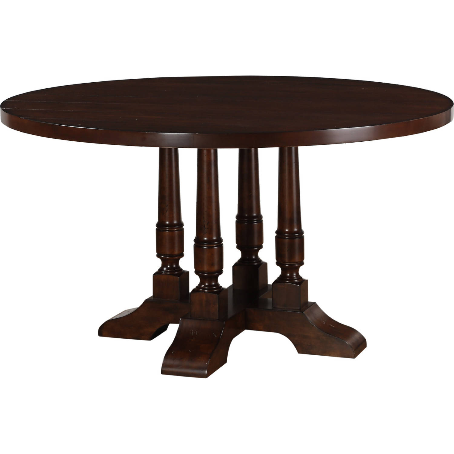 e80b0121009f Acme Furniture Tanner Cherry Round Pedestal Dining Table Click To Enlarge  ...