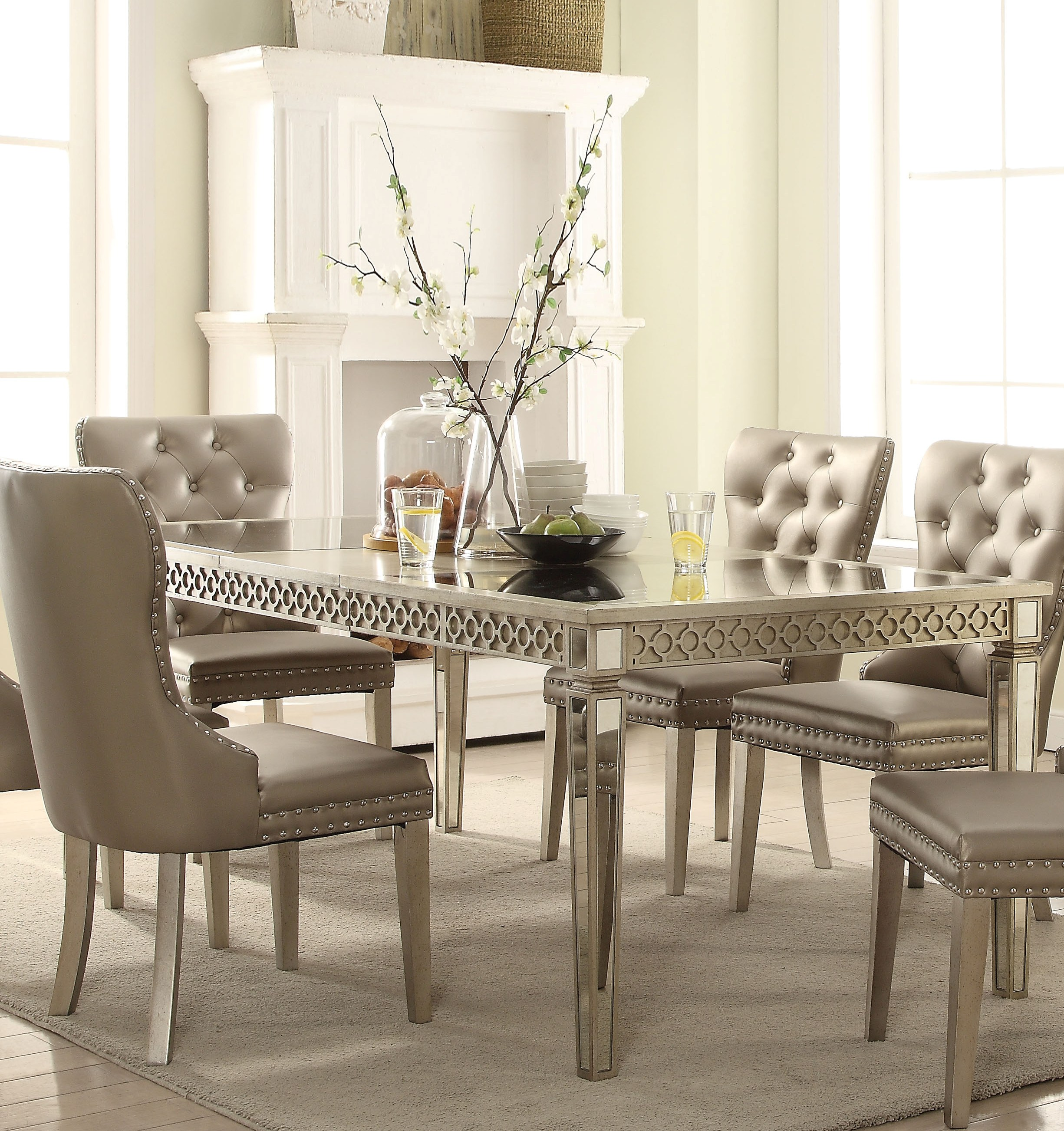 Champagne Dining Room Furniture: Acme Furniture Kacela Champagne Dining Table