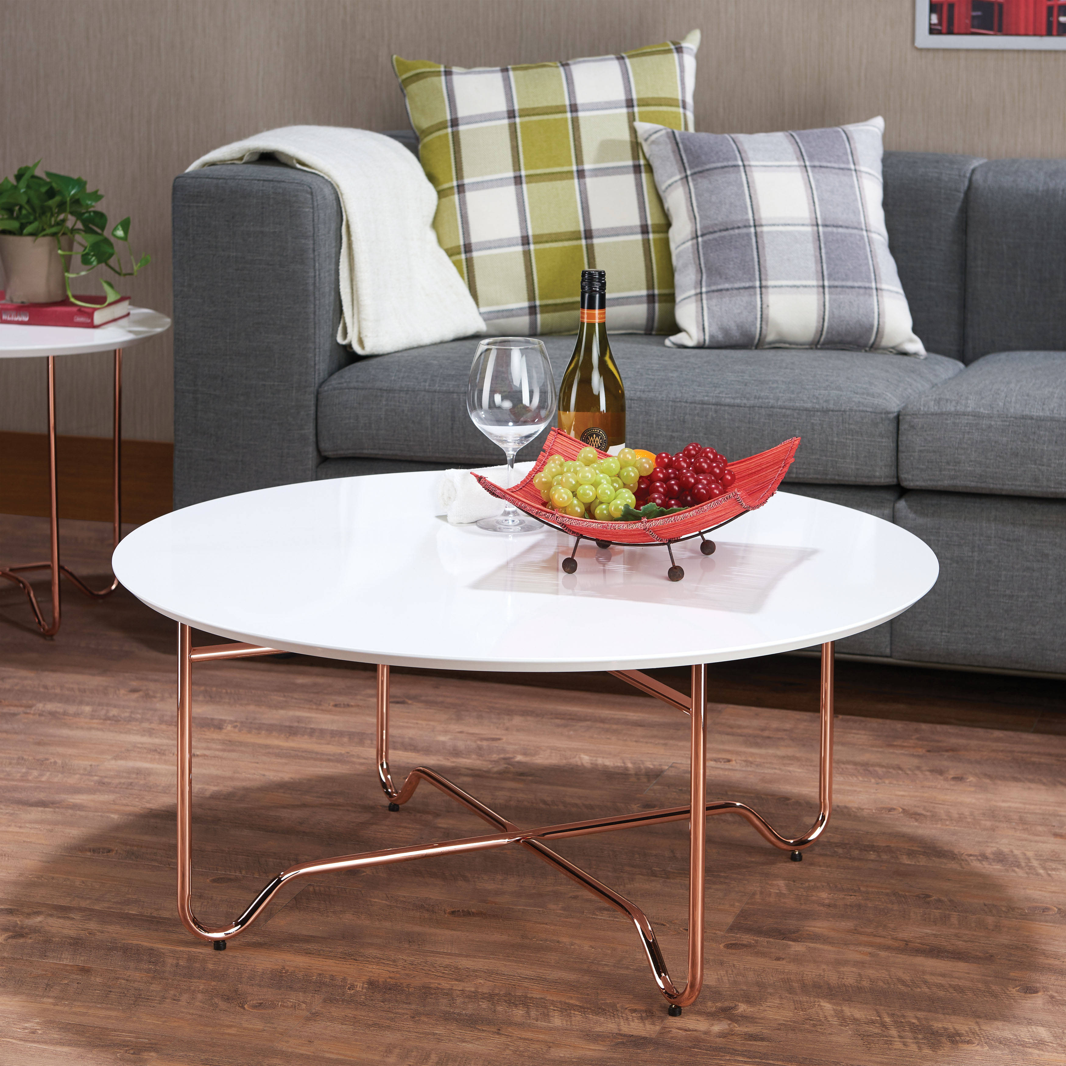 Rose Gold 3pc Coffee Table Set Click To Enlarge