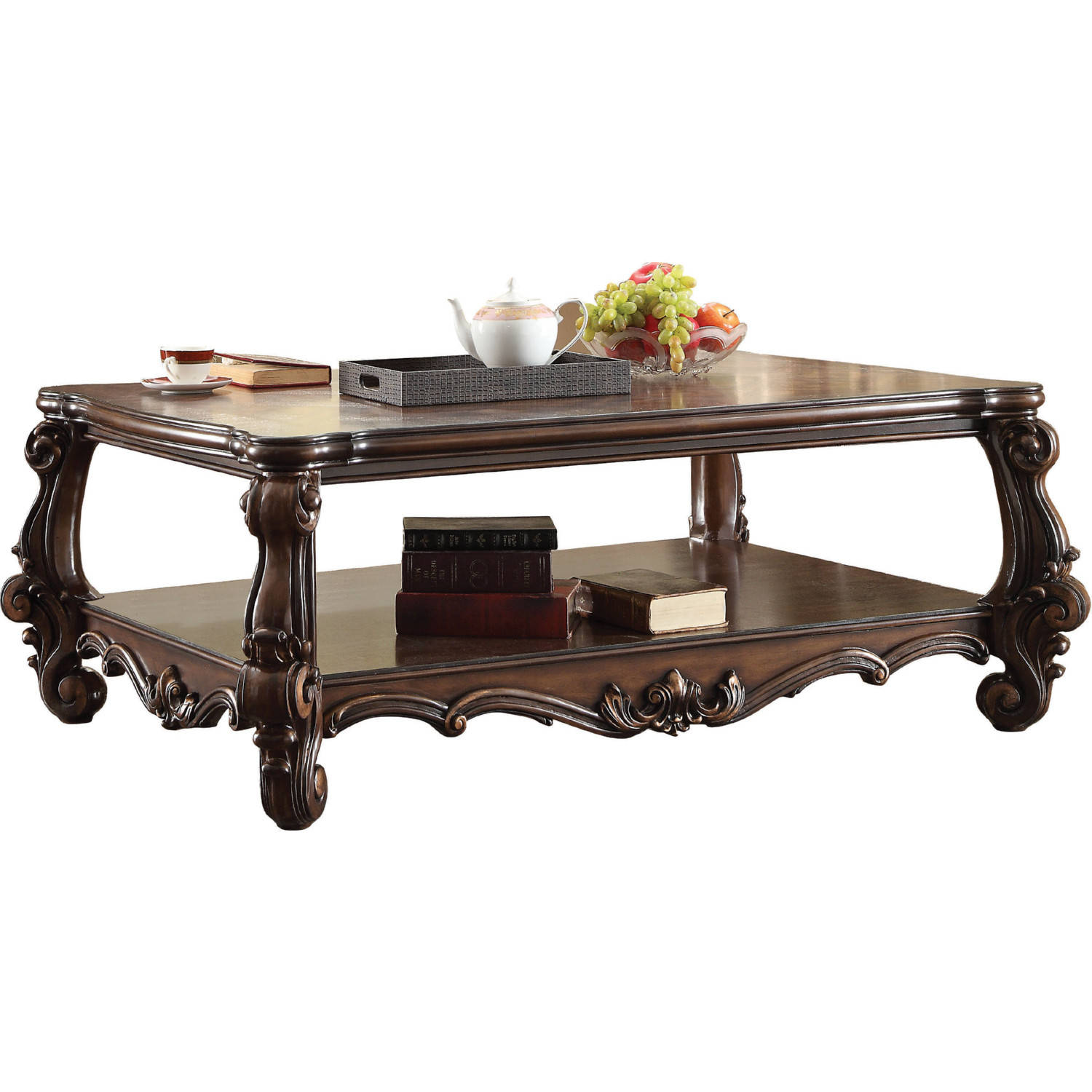 Versailles Square Coffee Table: Acme Furniture Versailles Cherry Oak Coffee Table
