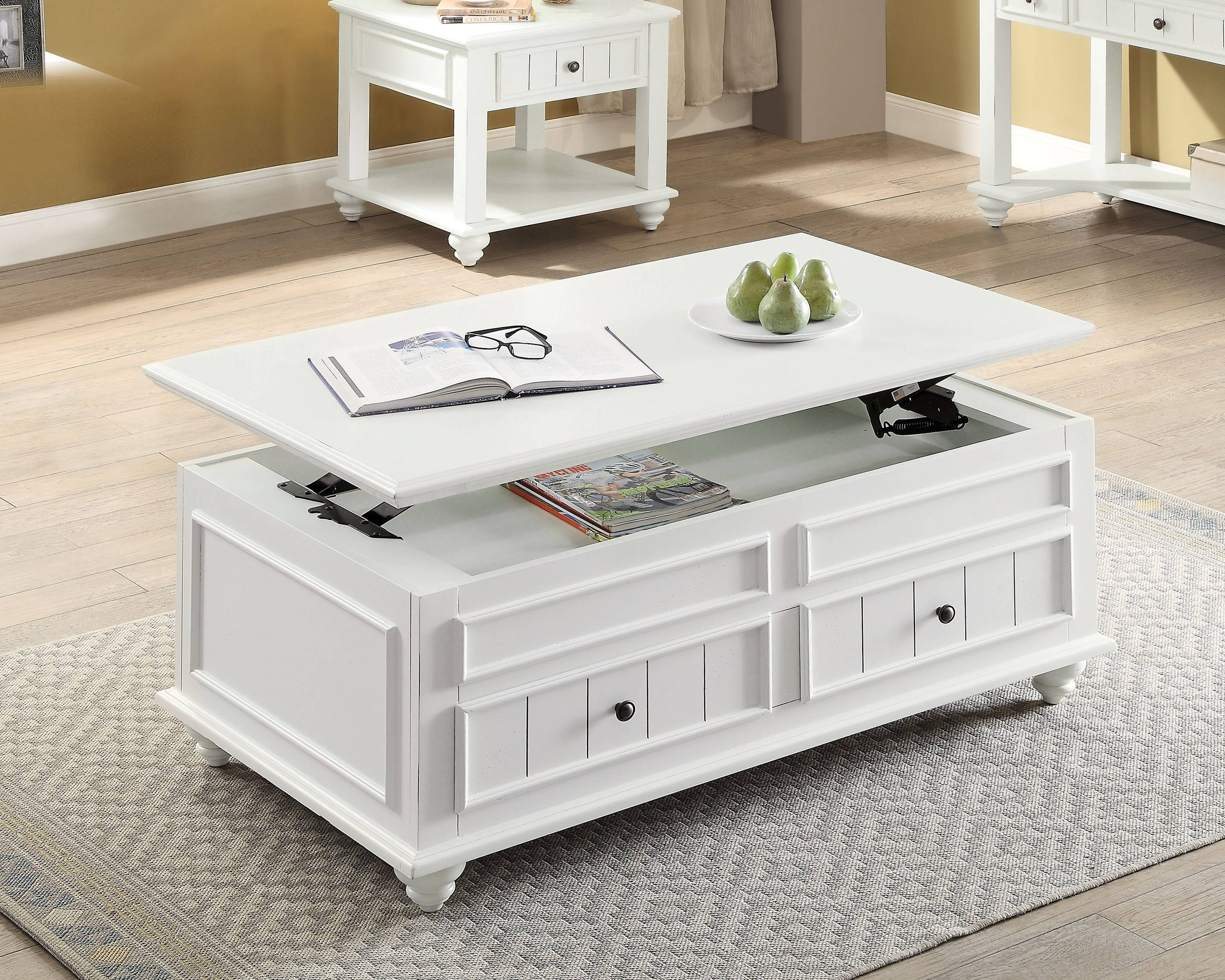 Coffee Table With Lift Top To Enlarge