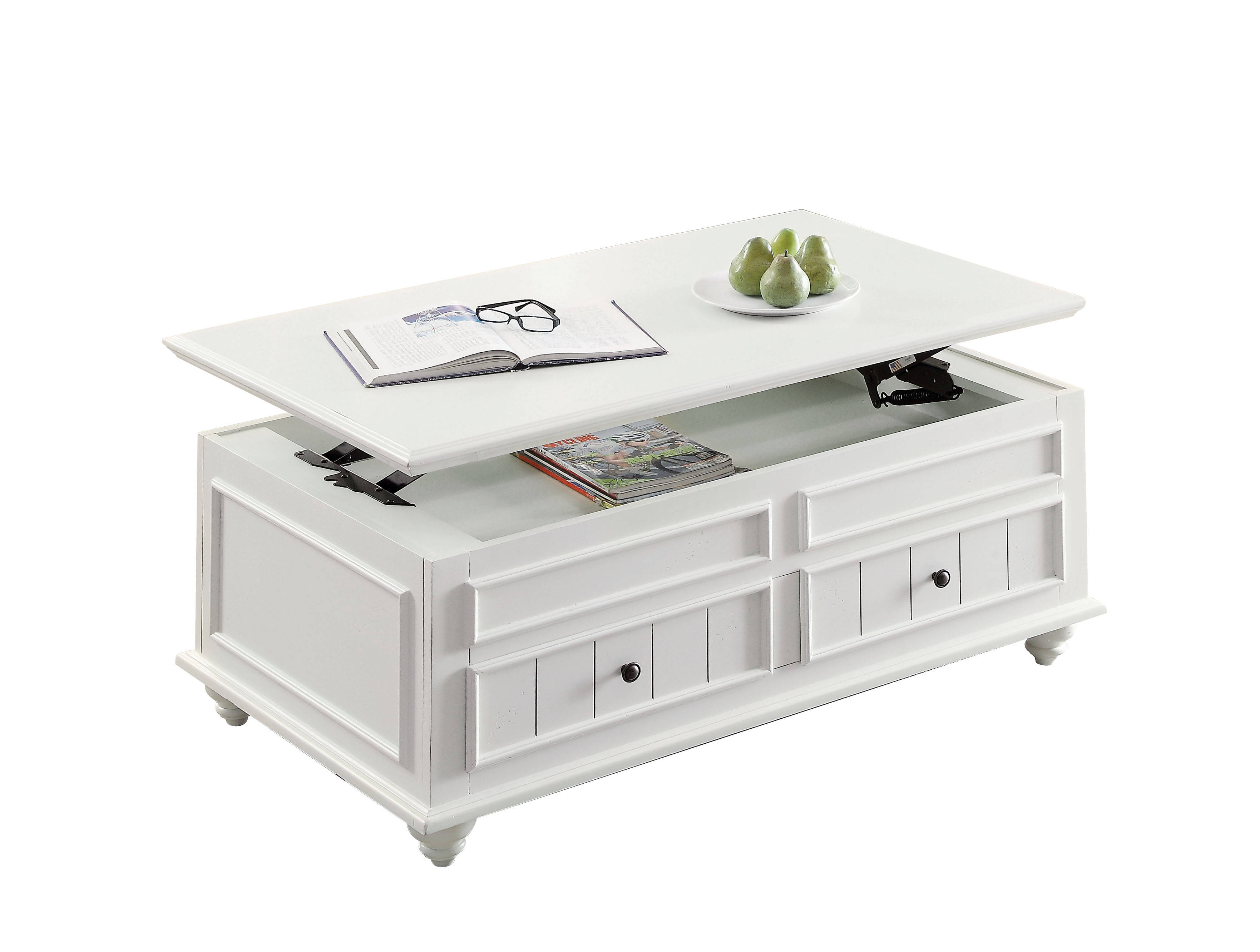Acme Furniture Natesa White Washed Coffee Table With Lift Top Click To  Enlarge ...