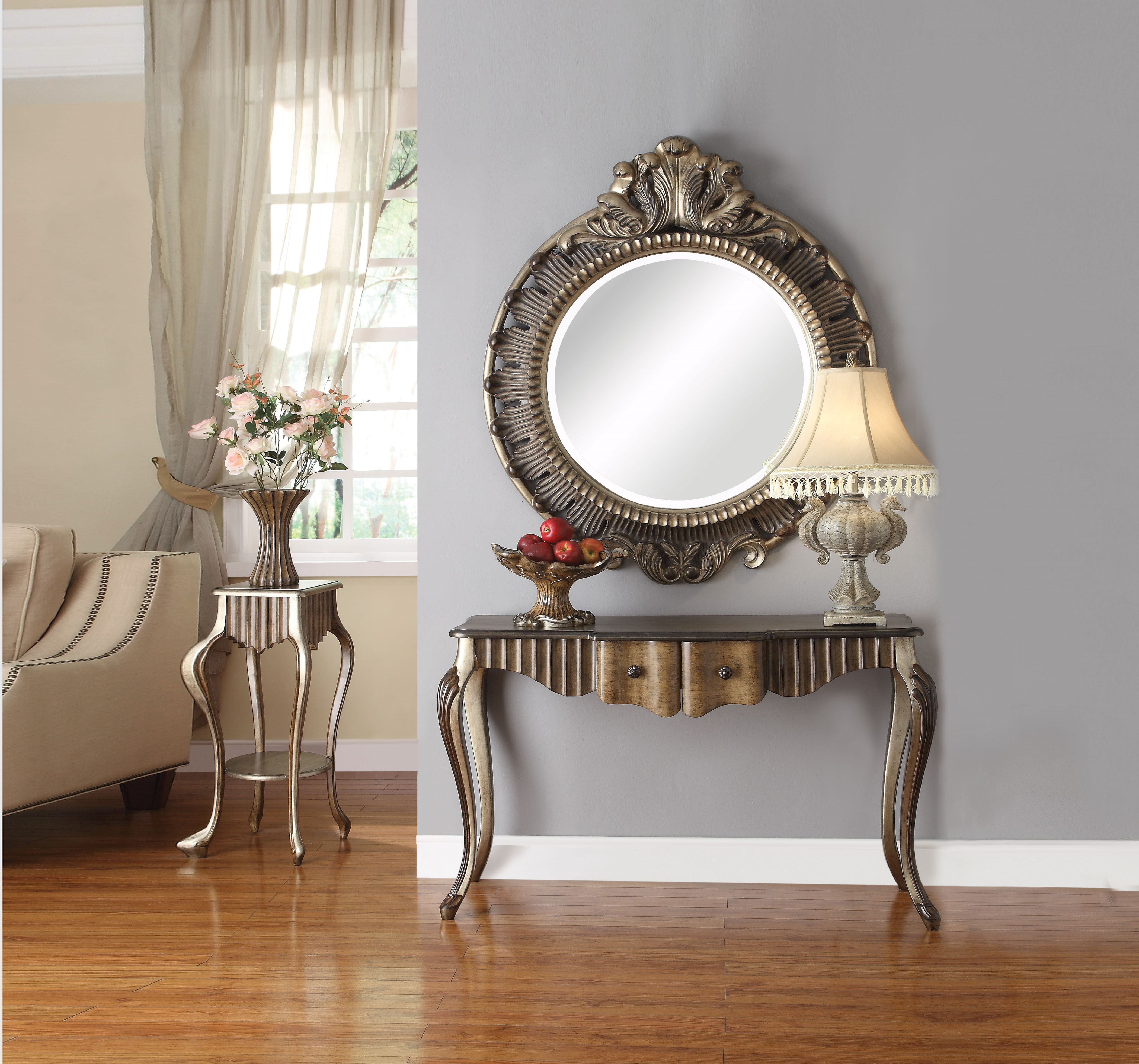 Acme Furniture Bayley Mirror Console Table To Enlarge