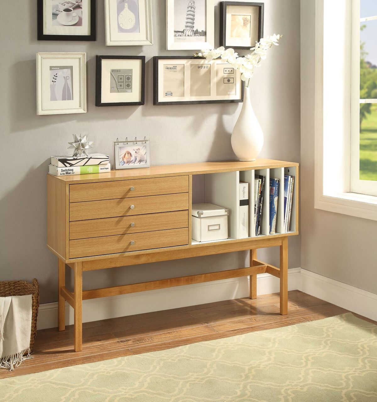 Acme Furniture Stania Natural Ivory Console Table Click To Enlarge ...