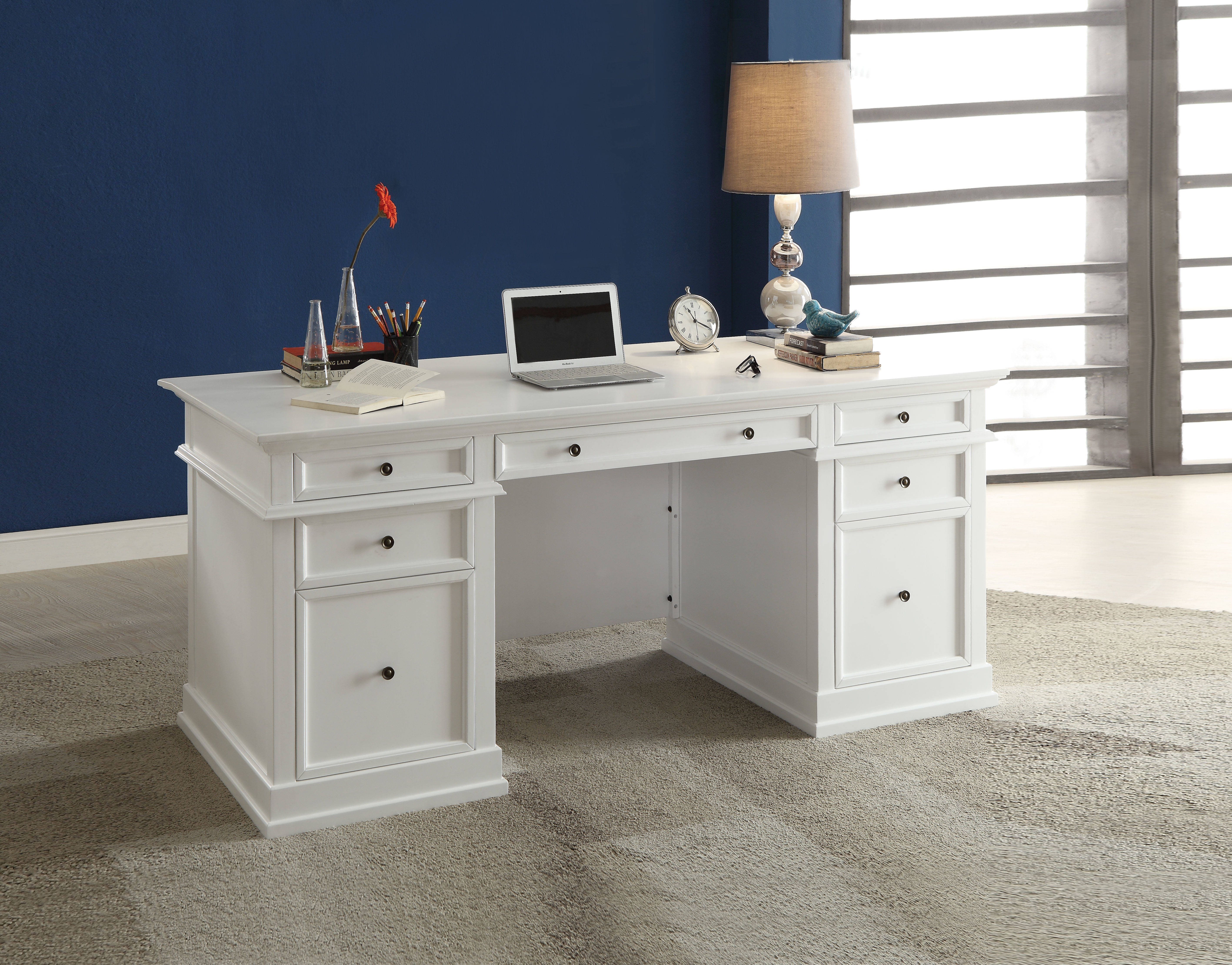Acme Furniture Daiki White Desk The Classy Home