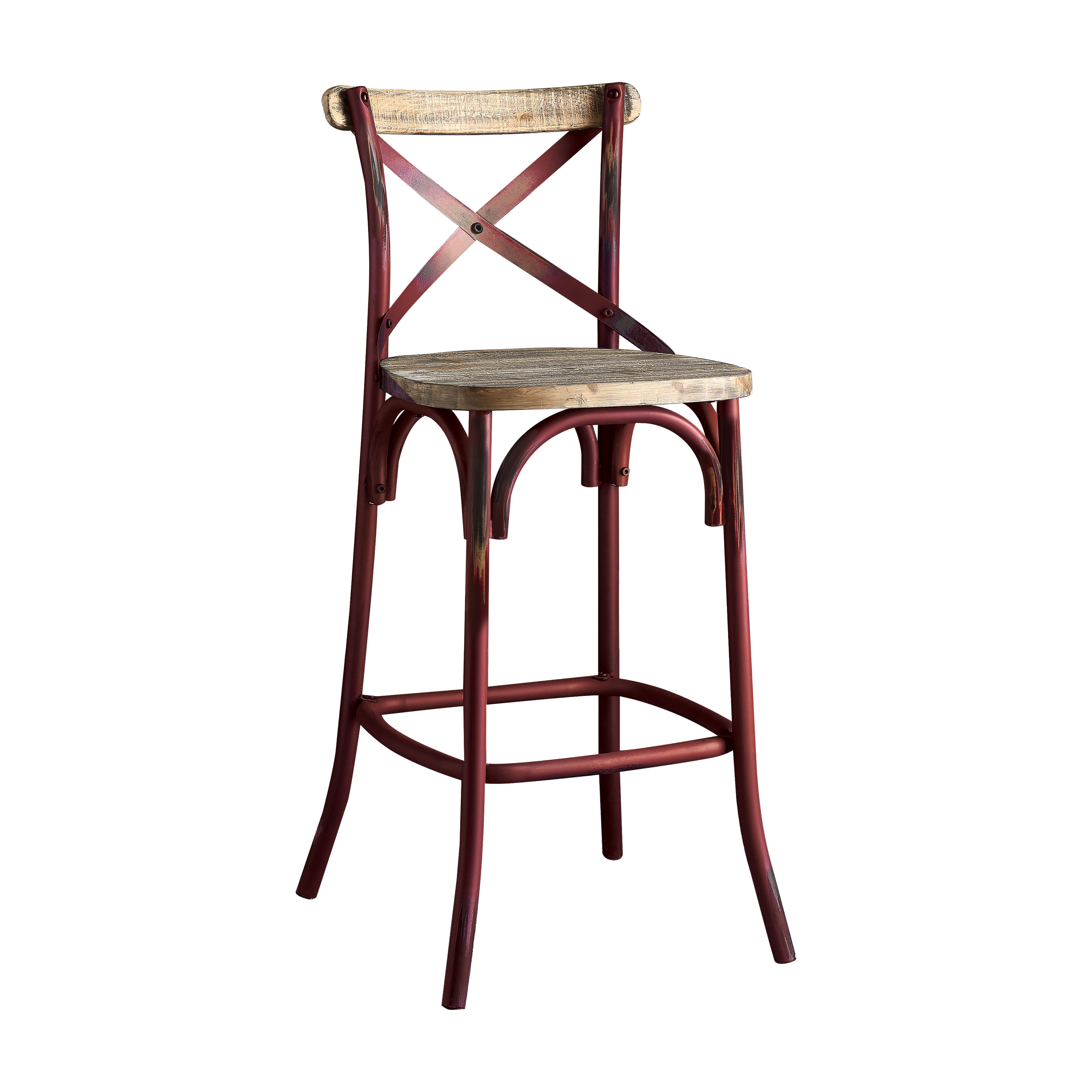 Swell Acme Furniture Zaire Antique Red Bar Chair Evergreenethics Interior Chair Design Evergreenethicsorg