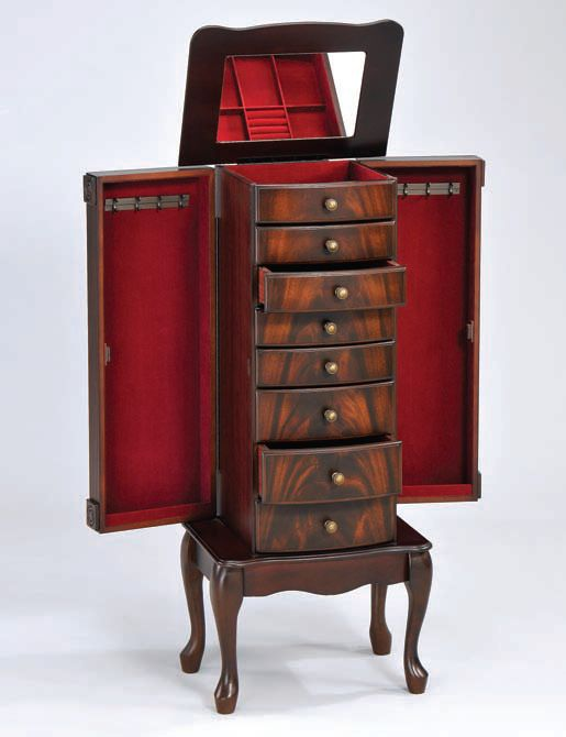 Vivan Cherry Wood Jewelry Armoire | The Classy Home