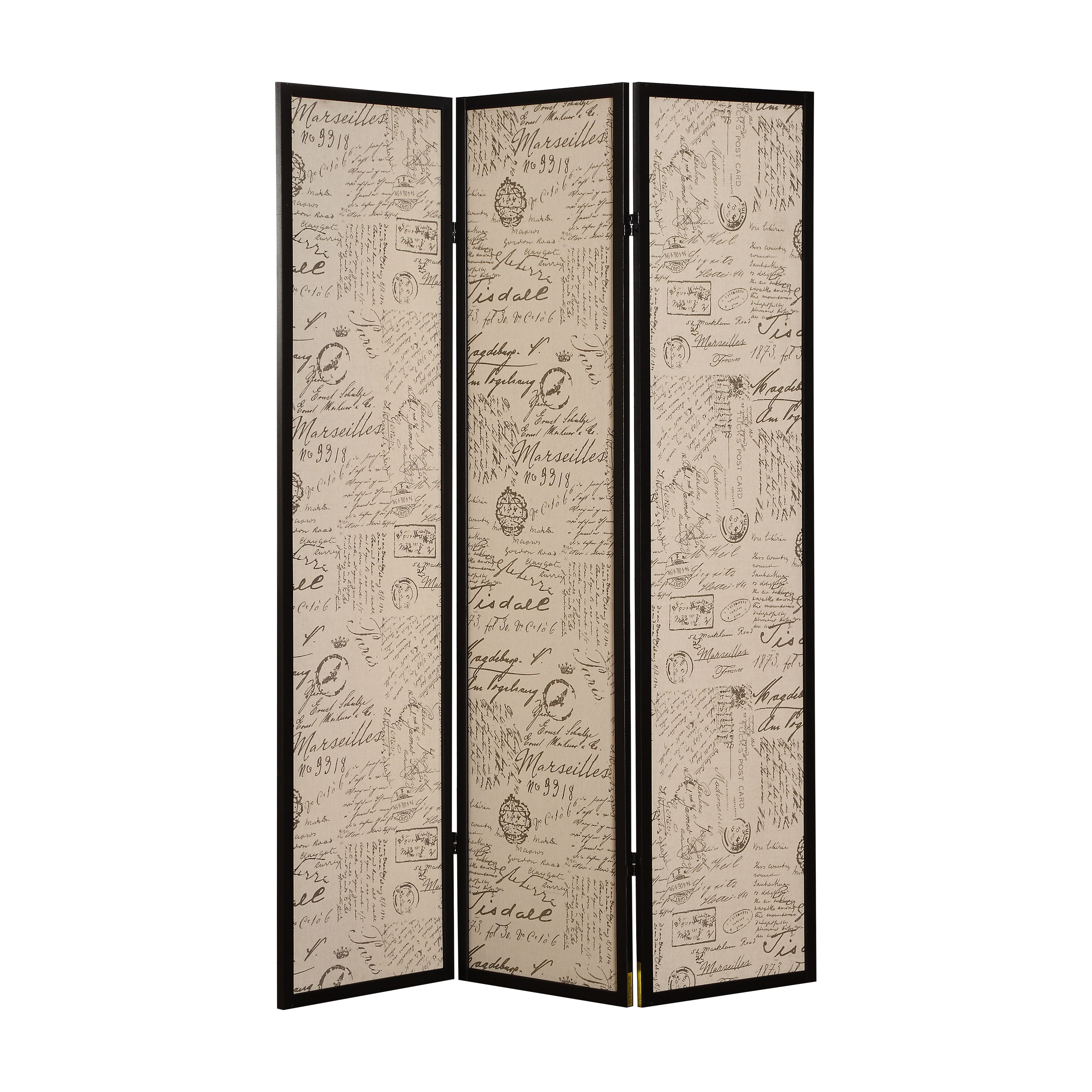 Acme Furniture Zita Black Three Panel Screen Room Divider Click To Enlarge