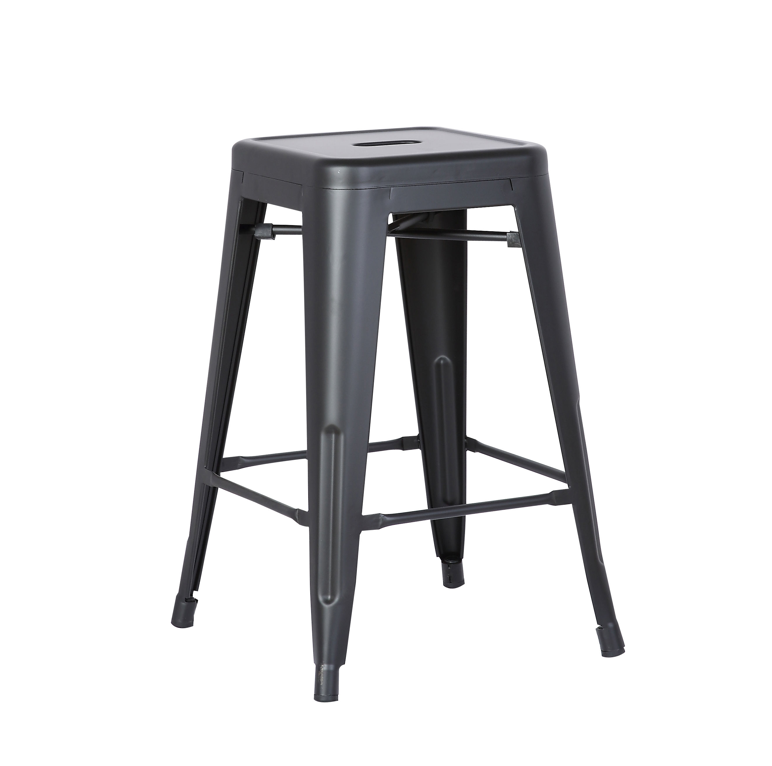 2 Ac Pacific Acbs01 Matte Black Costal Metal 24 Inch Bar Stools