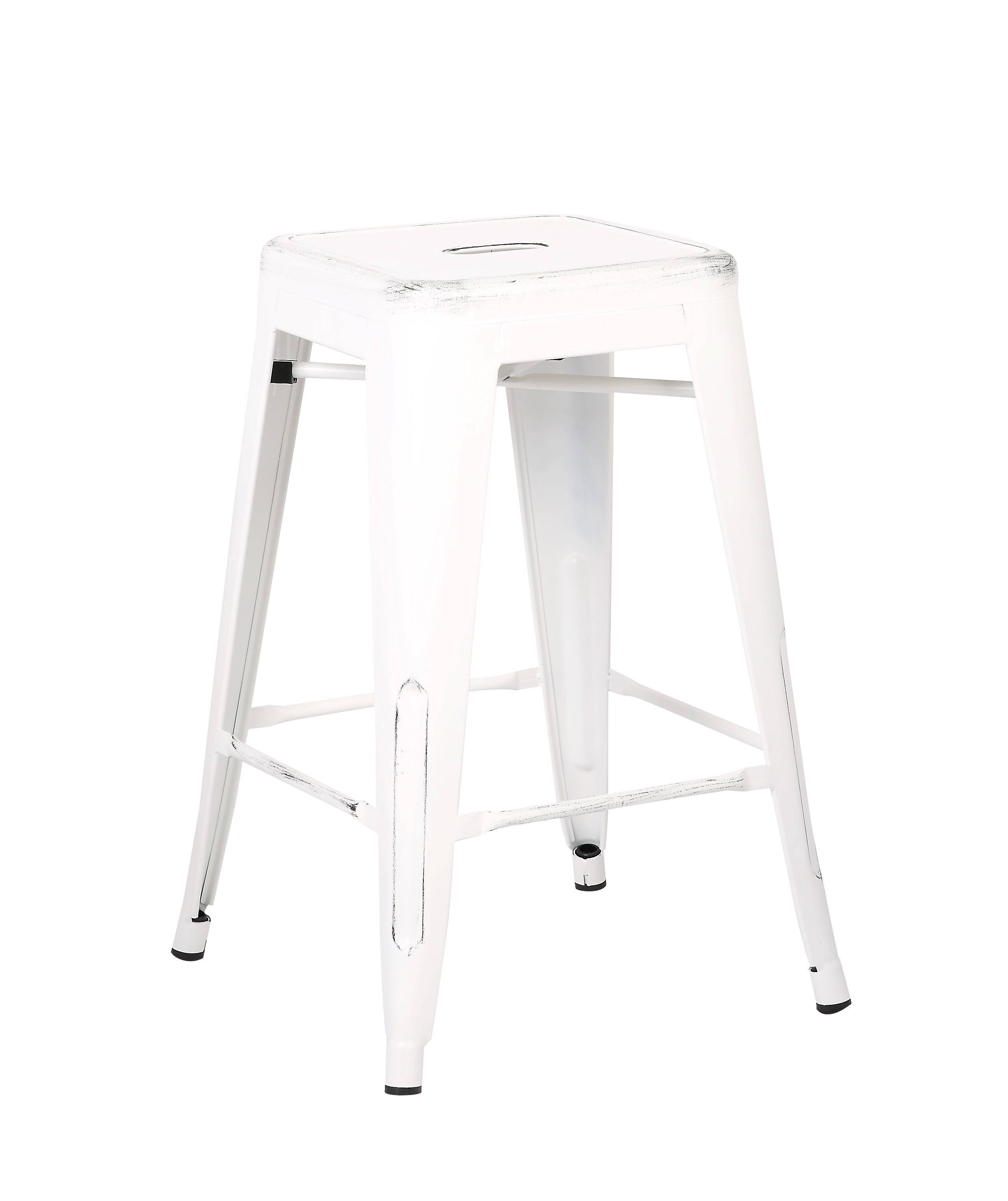 White Costal Metal 24 Inch Bar Stools Click To Enlarge