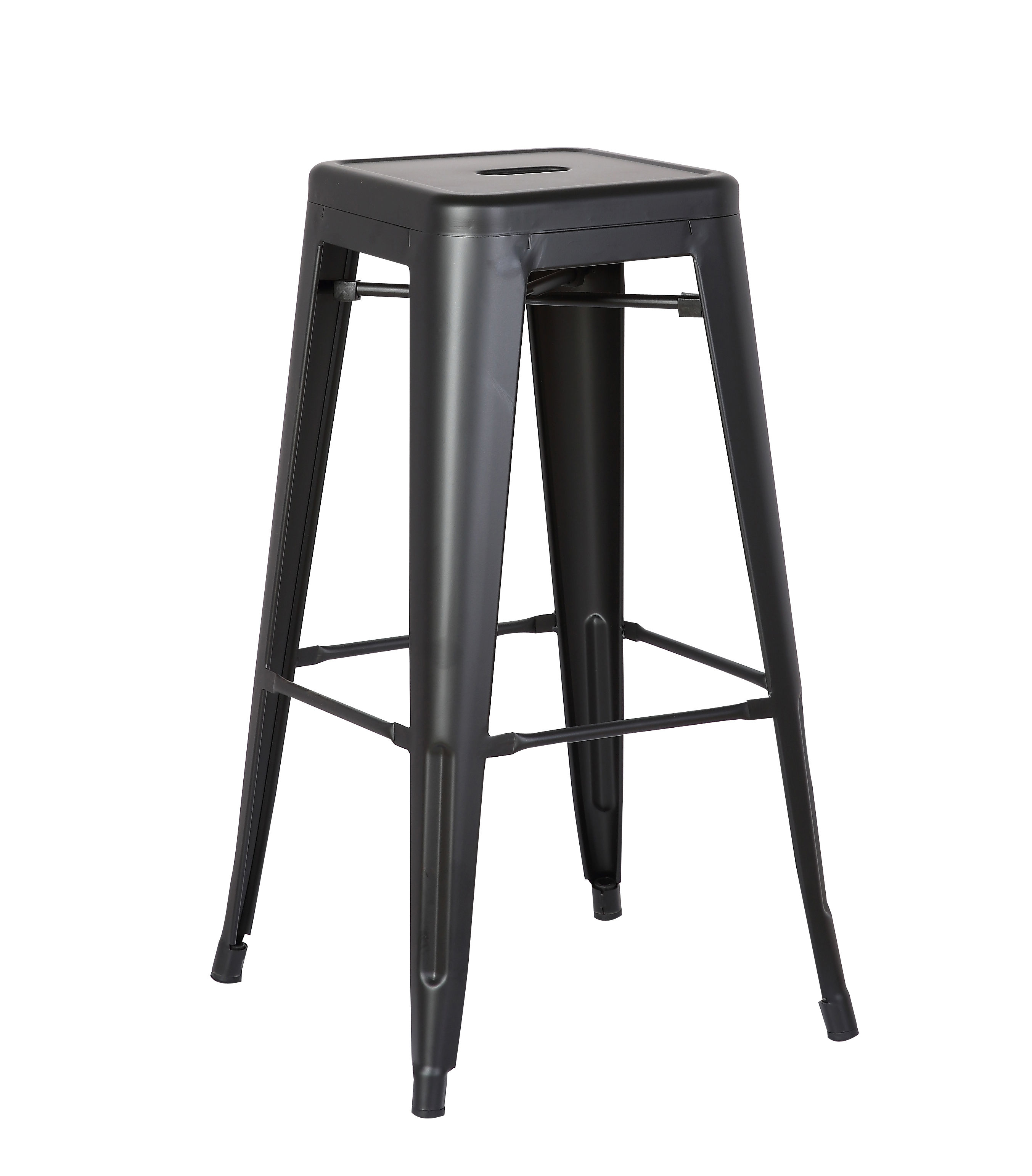 2 Ac Pacific Acbs01 Matte Black Costal Metal 30 Inch Bar Stools
