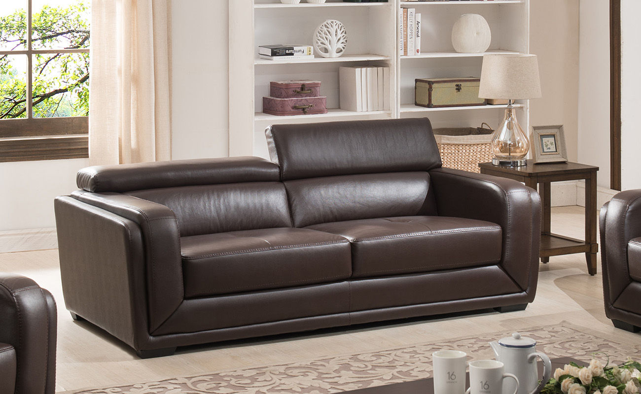Awe Inspiring Ac Pacific Calvin Brown Upholstered Sofa Best Image Libraries Thycampuscom