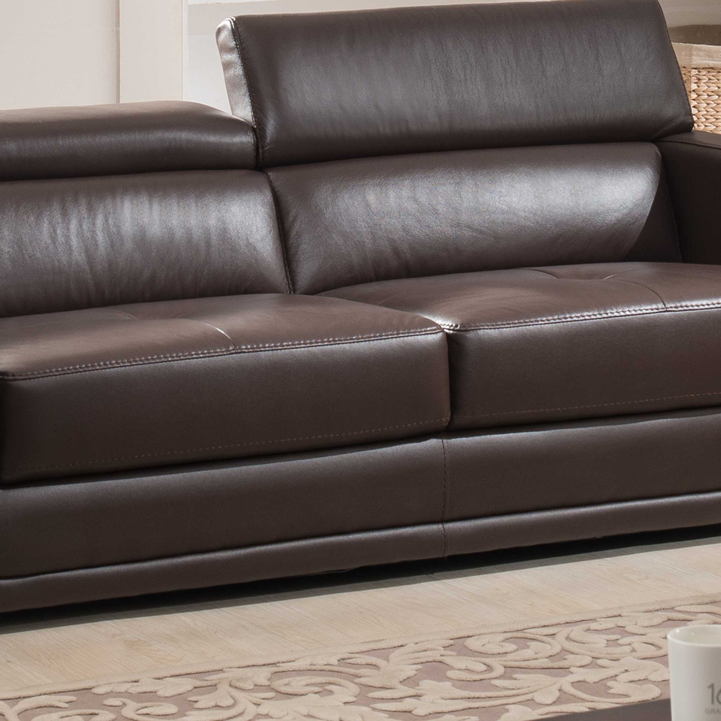 Ac Pacific Calvin Brown Upholstered Sofa The Classy Home