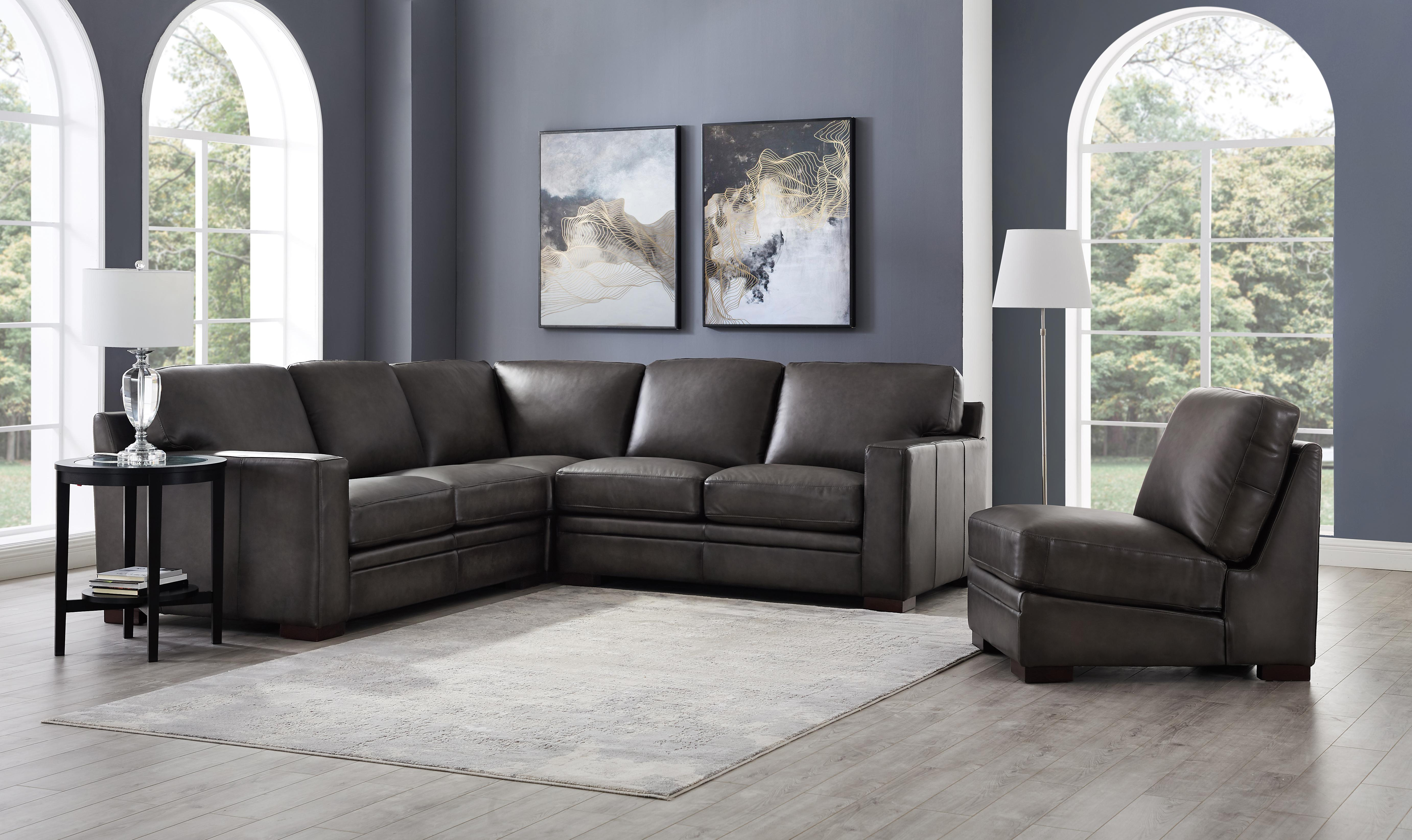 Fine Hydeline Dillon Gray Sectional And Chair Set The Classy Home Caraccident5 Cool Chair Designs And Ideas Caraccident5Info