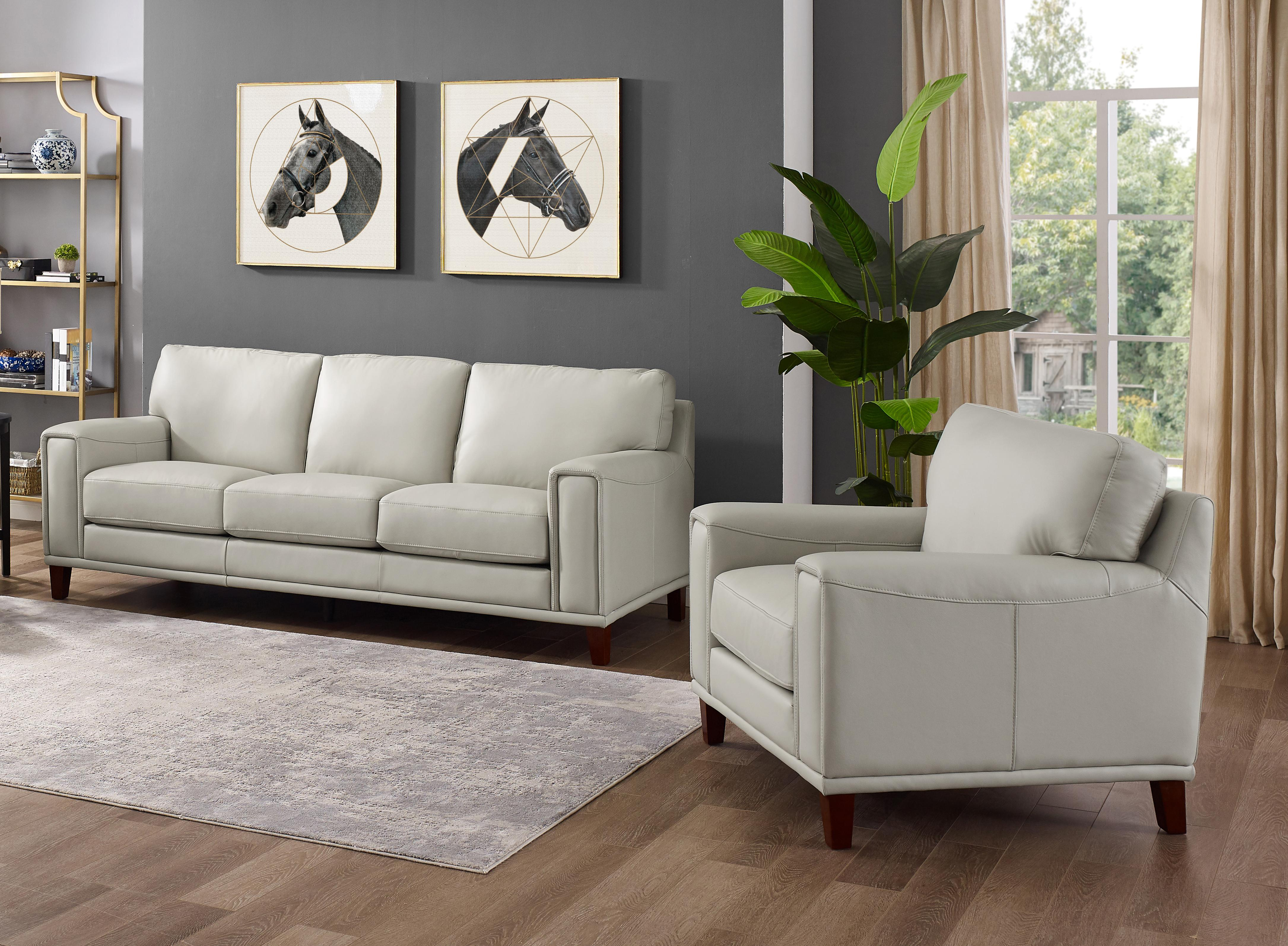 Fantastic Hydeline Vallejo Light Grey Sofa And Chair Set The Classy Home Machost Co Dining Chair Design Ideas Machostcouk
