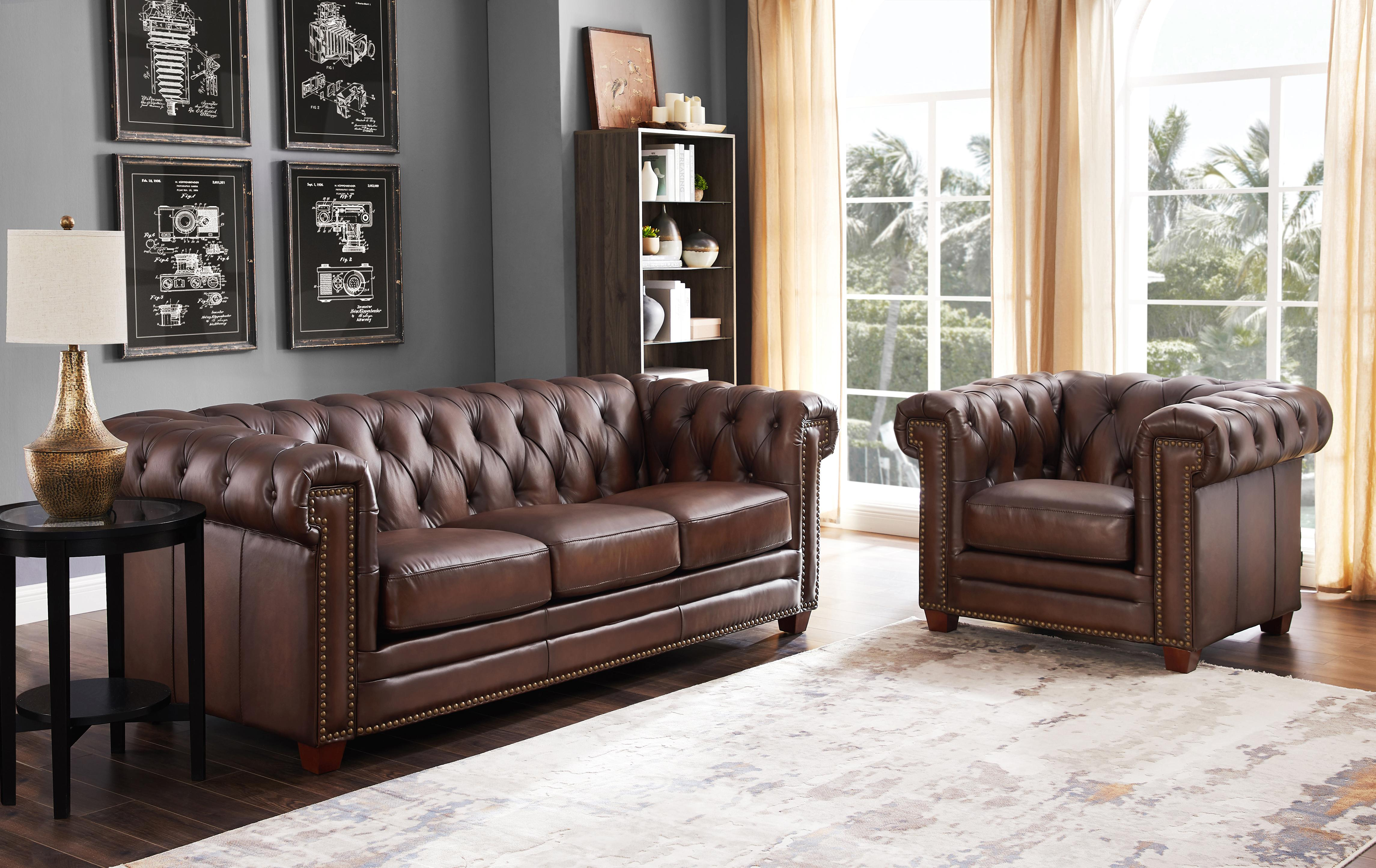 Hydeline Standwood Dark Brown Sofa and Chair Set