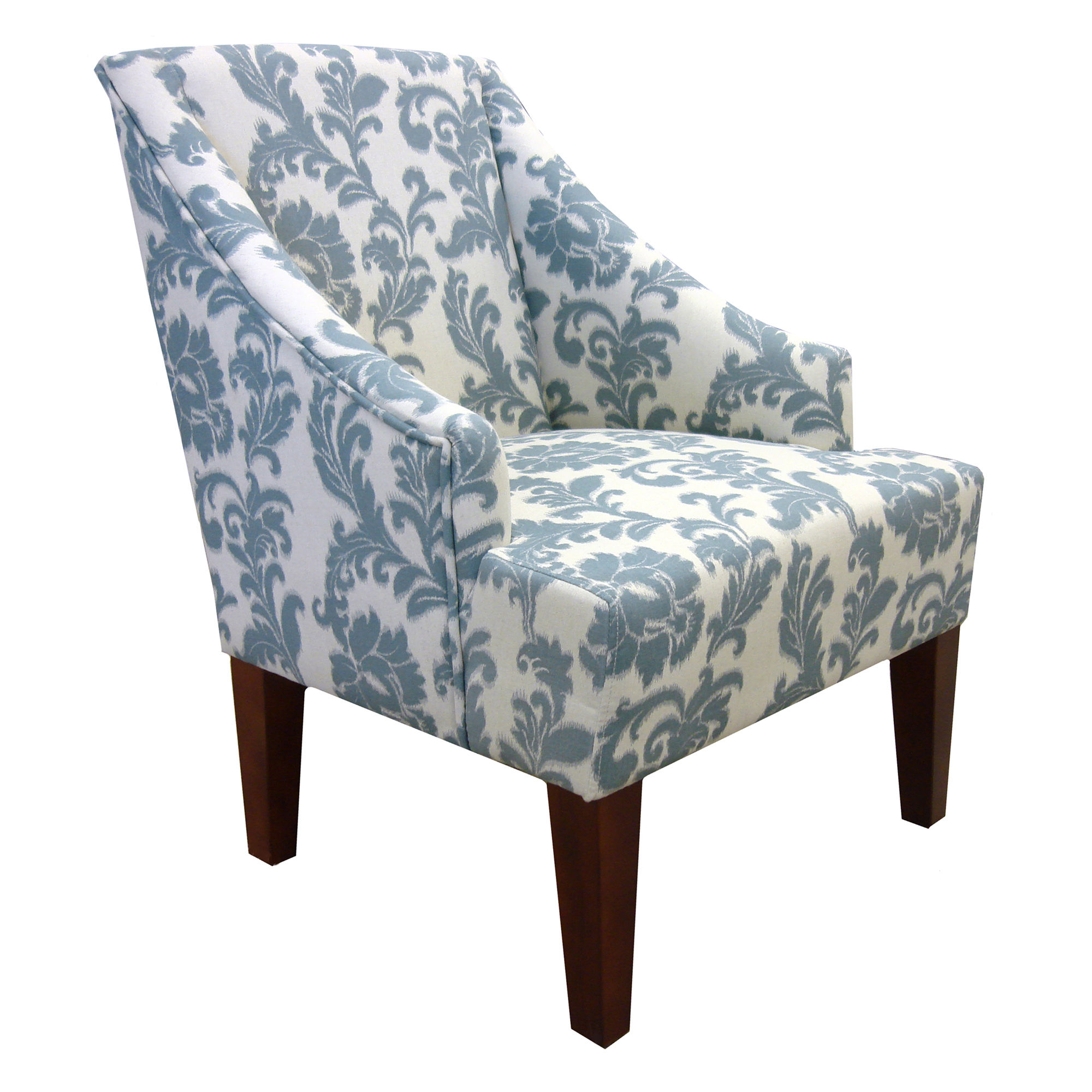Armen Living Ikat Slate Accent Chair   The Classy Home