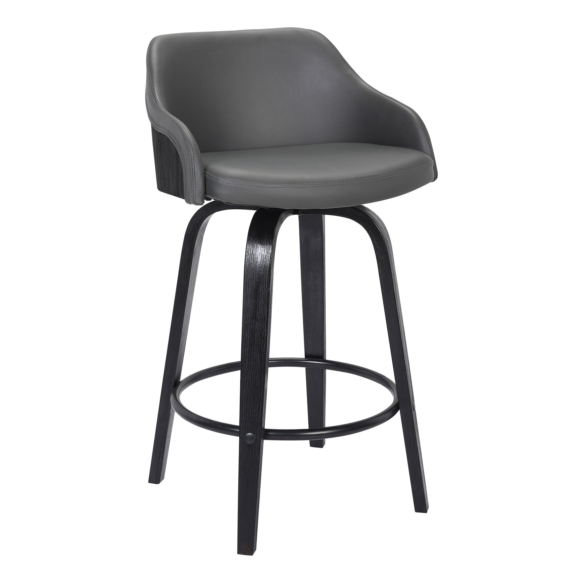 size 40 b0d44 5c24e Armen Living Alec Grey 30 Inch Swivel Bar Height Stool