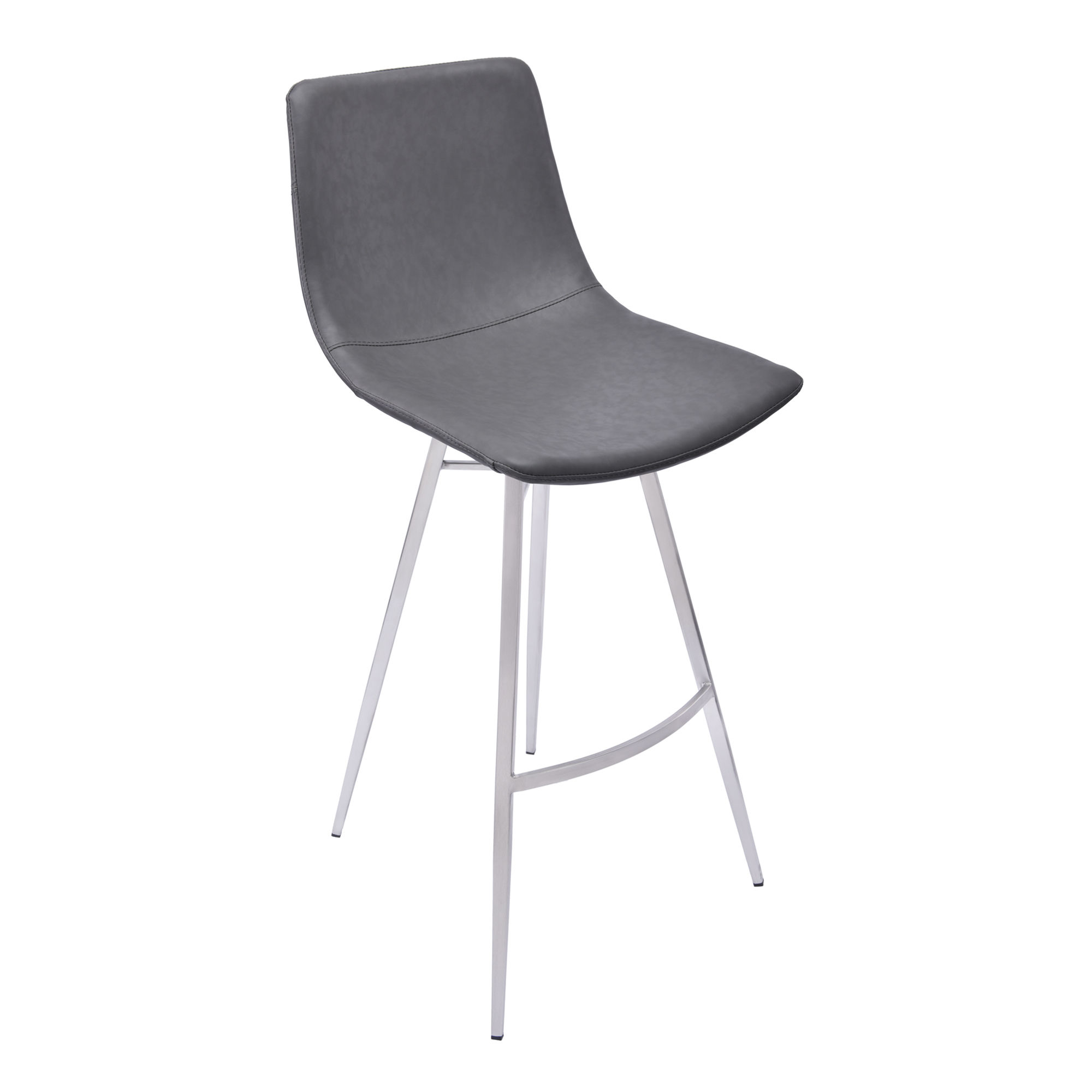 Armen Living Athens Vintage Gray 26 Inch Counter Stool