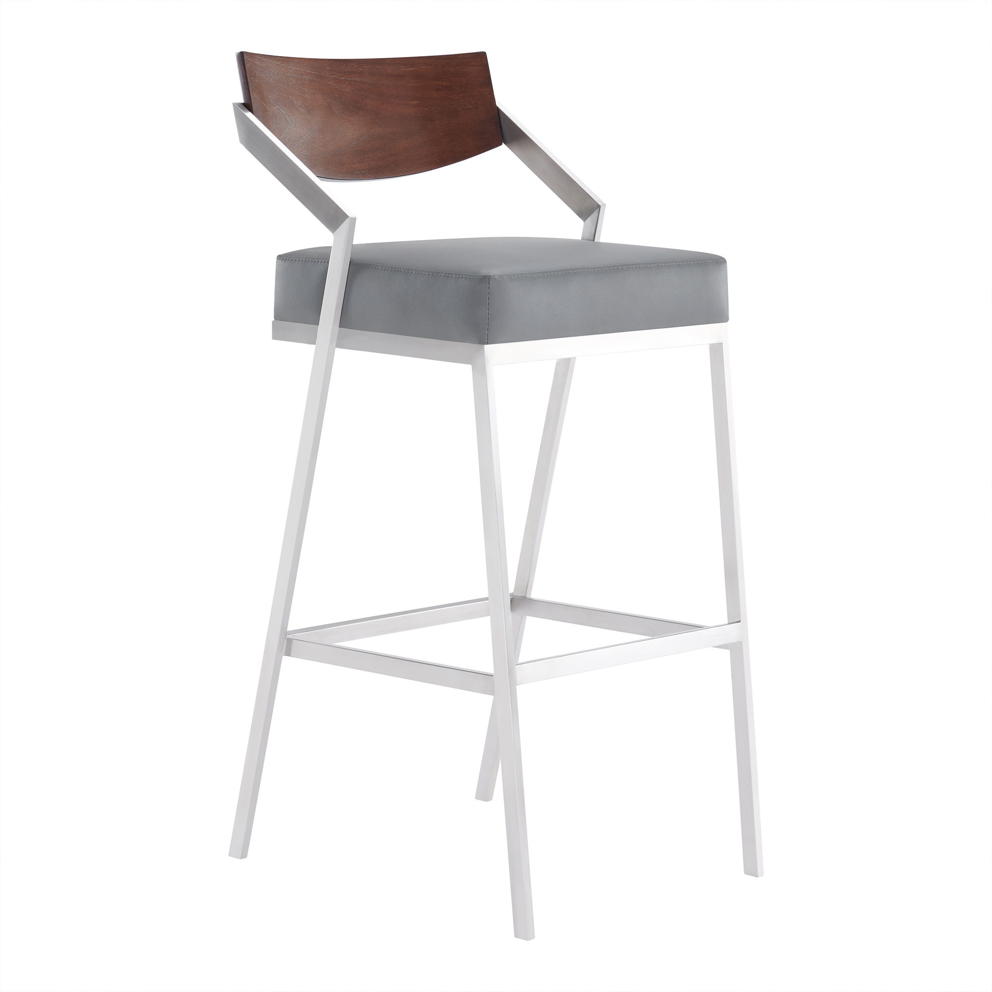 Miraculous Armen Living Dakota Grey Faux Leather Counter Height Bar Stool Gmtry Best Dining Table And Chair Ideas Images Gmtryco