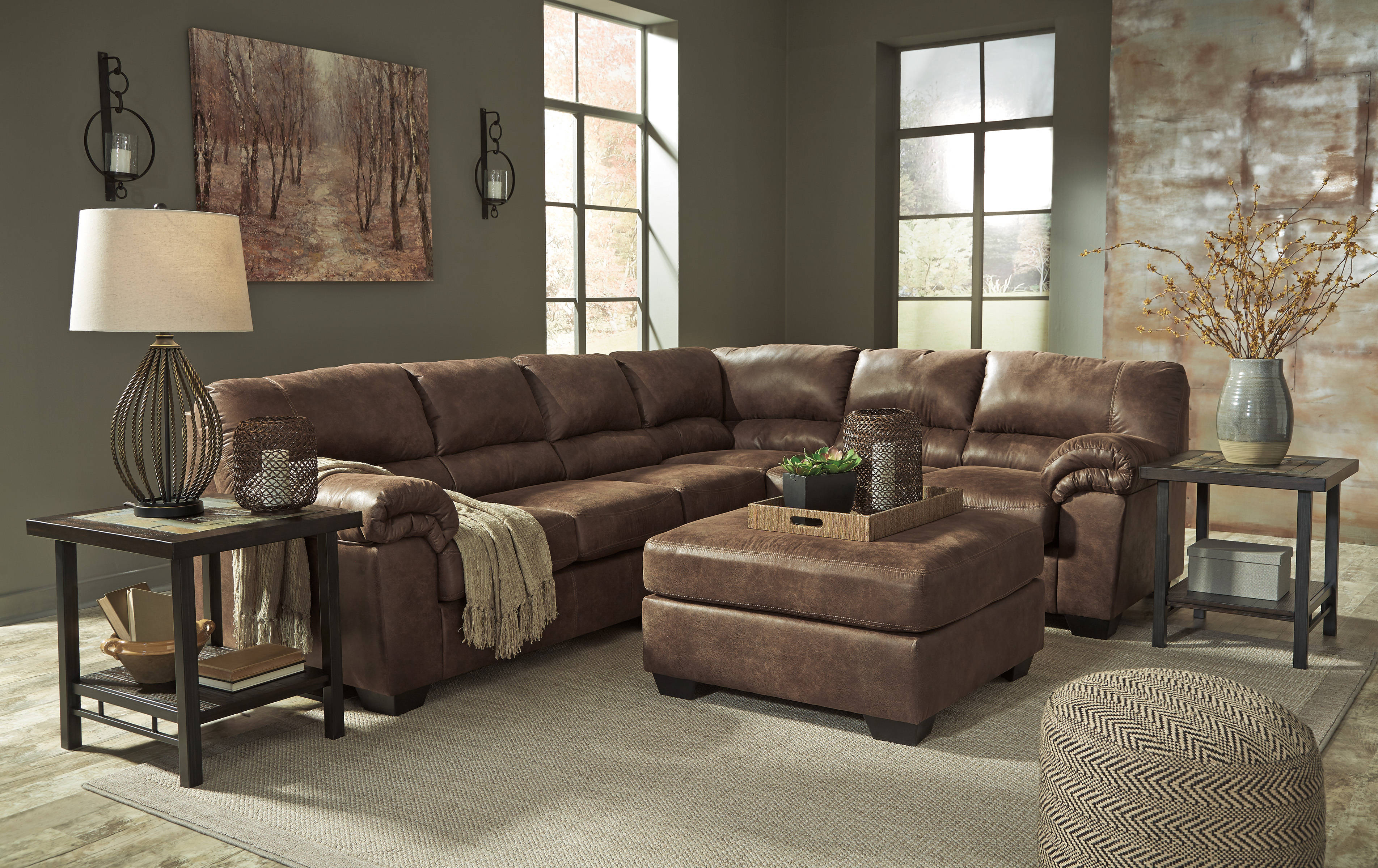 Ashley Furniture Bladen Coffee Raf Sofa And Ottoman