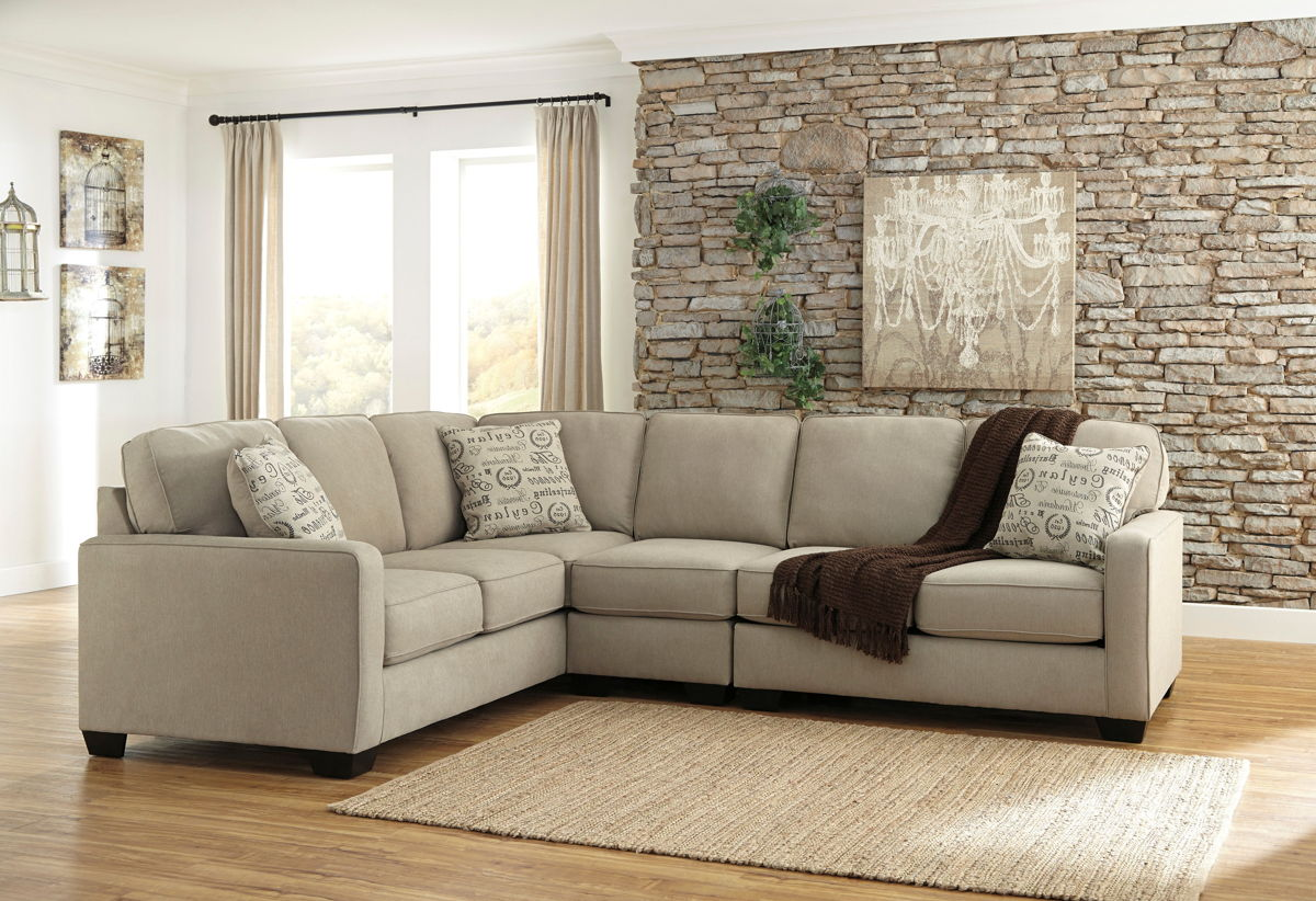 Ashley Furniture Alenya Quartz Raf Loveseat And Laf Sofa Sectional