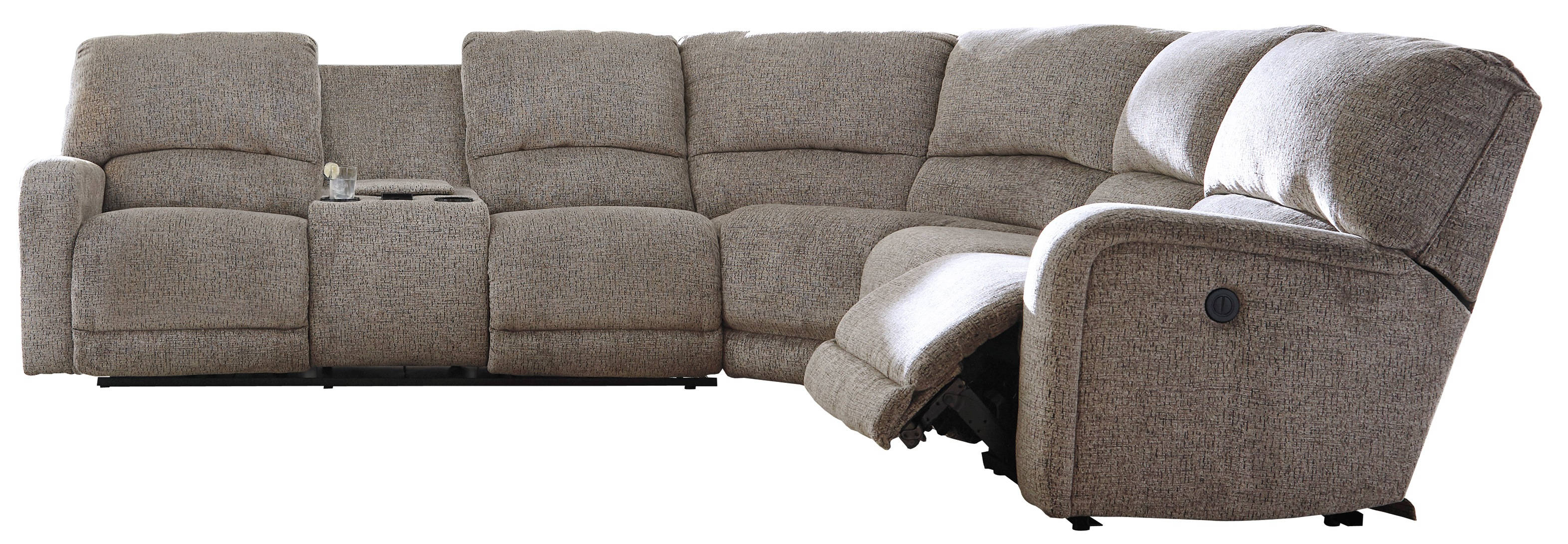 Ashley Furniture Pittsfield Fossil Raf Wall Power Recliner Sectional The Classy Home