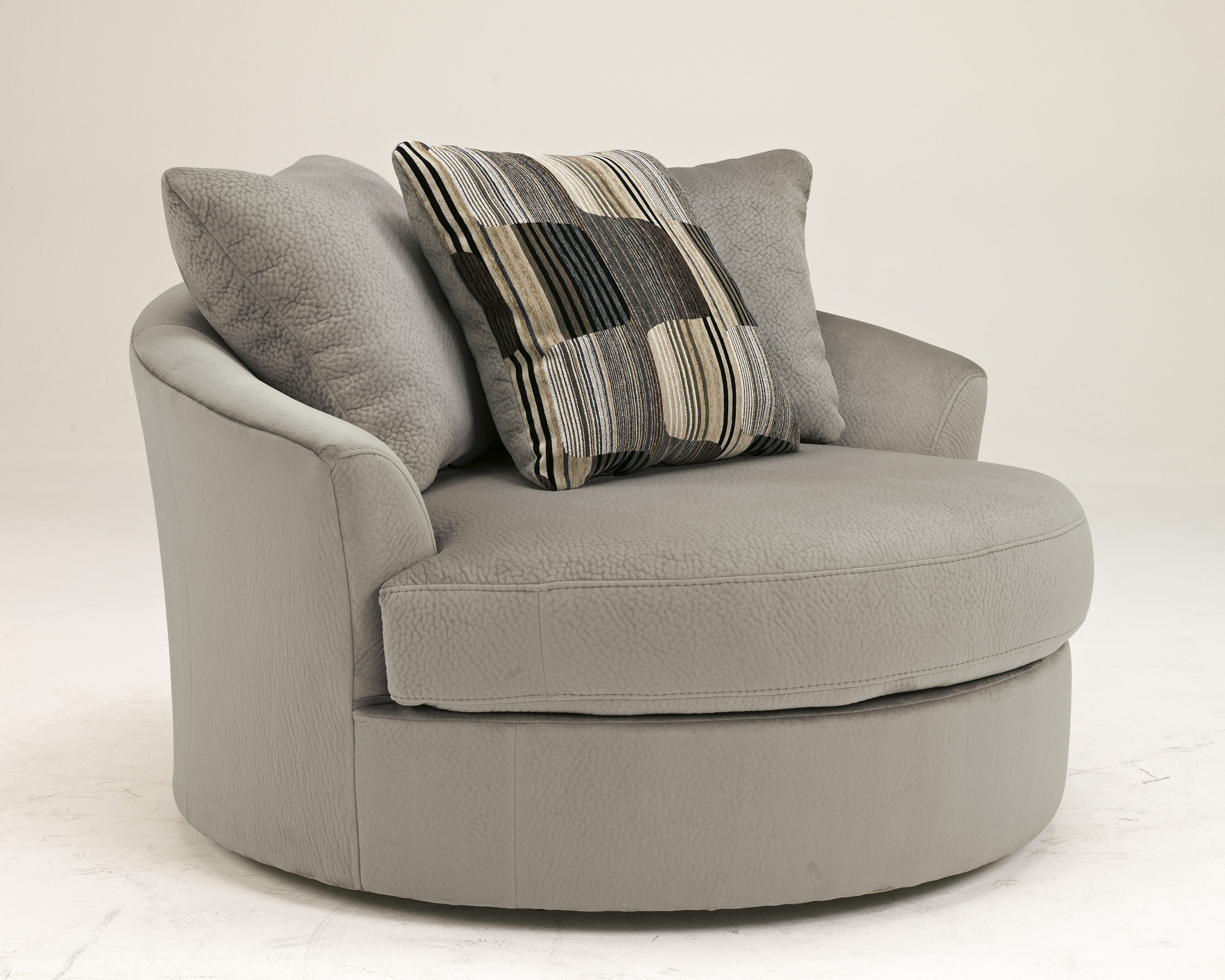 Westen granite wood oversized swivel accent chair the for Oversized occasional chairs