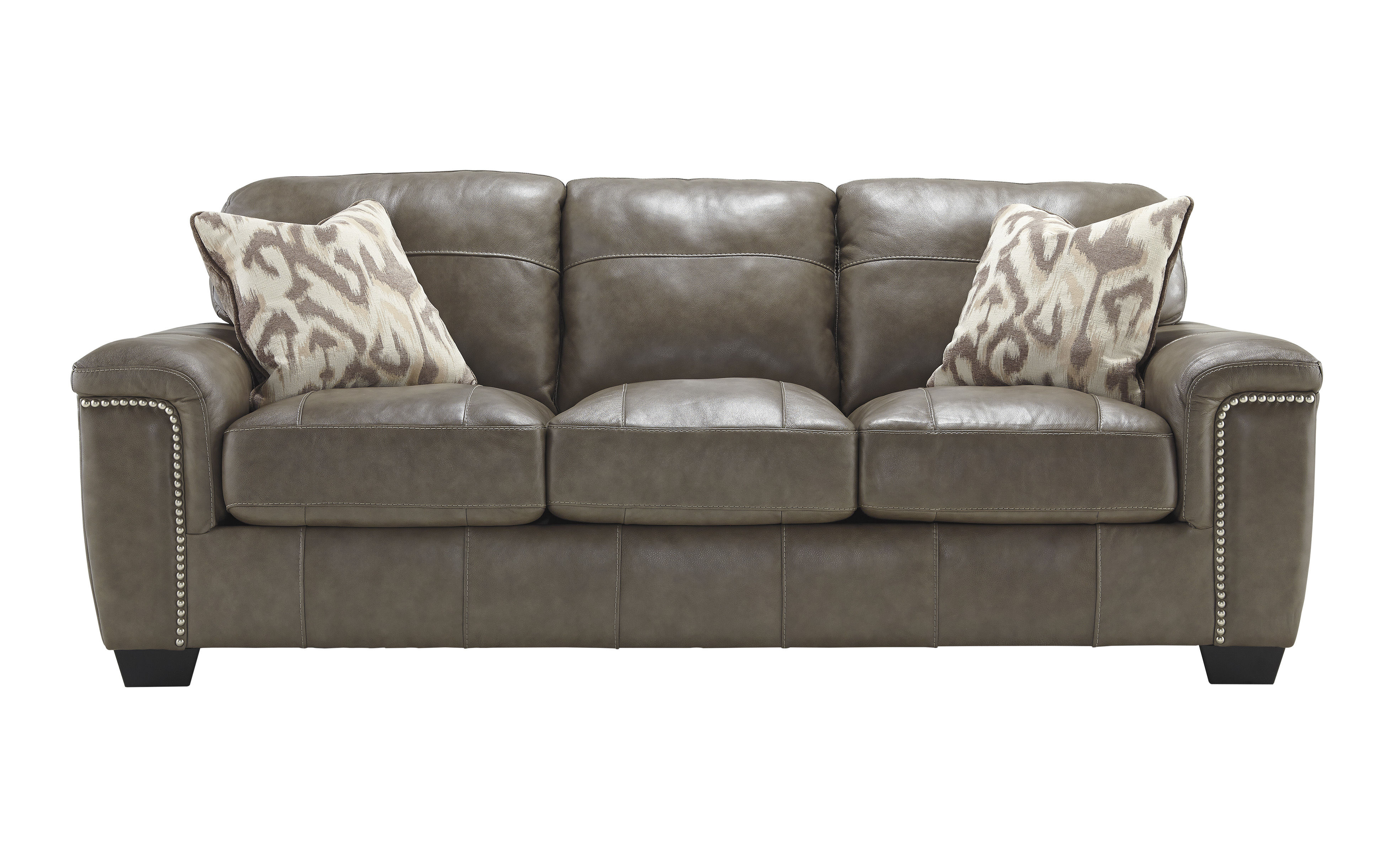 Miraculous Donnell Contemporary Granite Leather Fabric Sofa The Squirreltailoven Fun Painted Chair Ideas Images Squirreltailovenorg