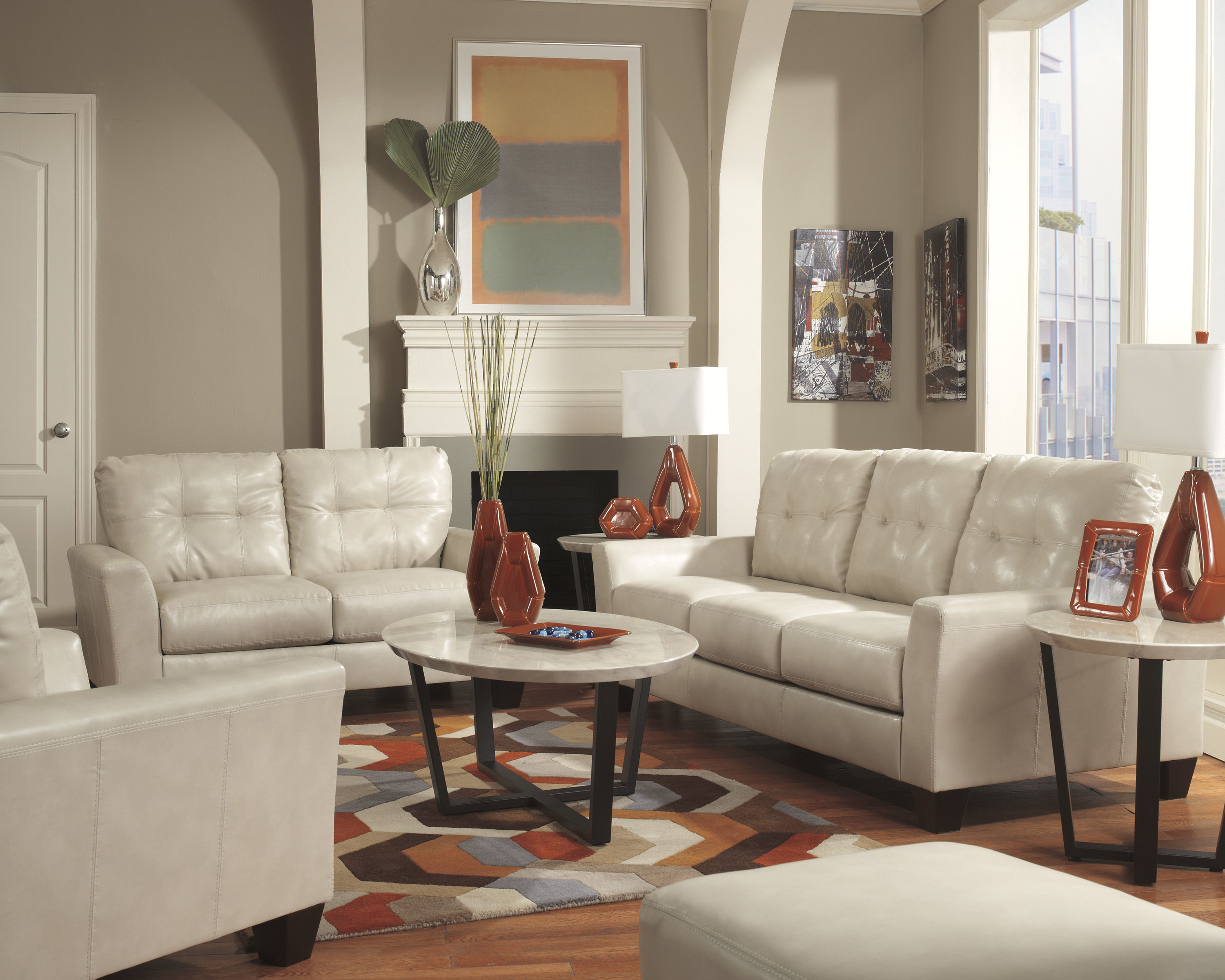 Ashley Furniture Paulie Durablend 4pc Living Room Set Click To Enlarge