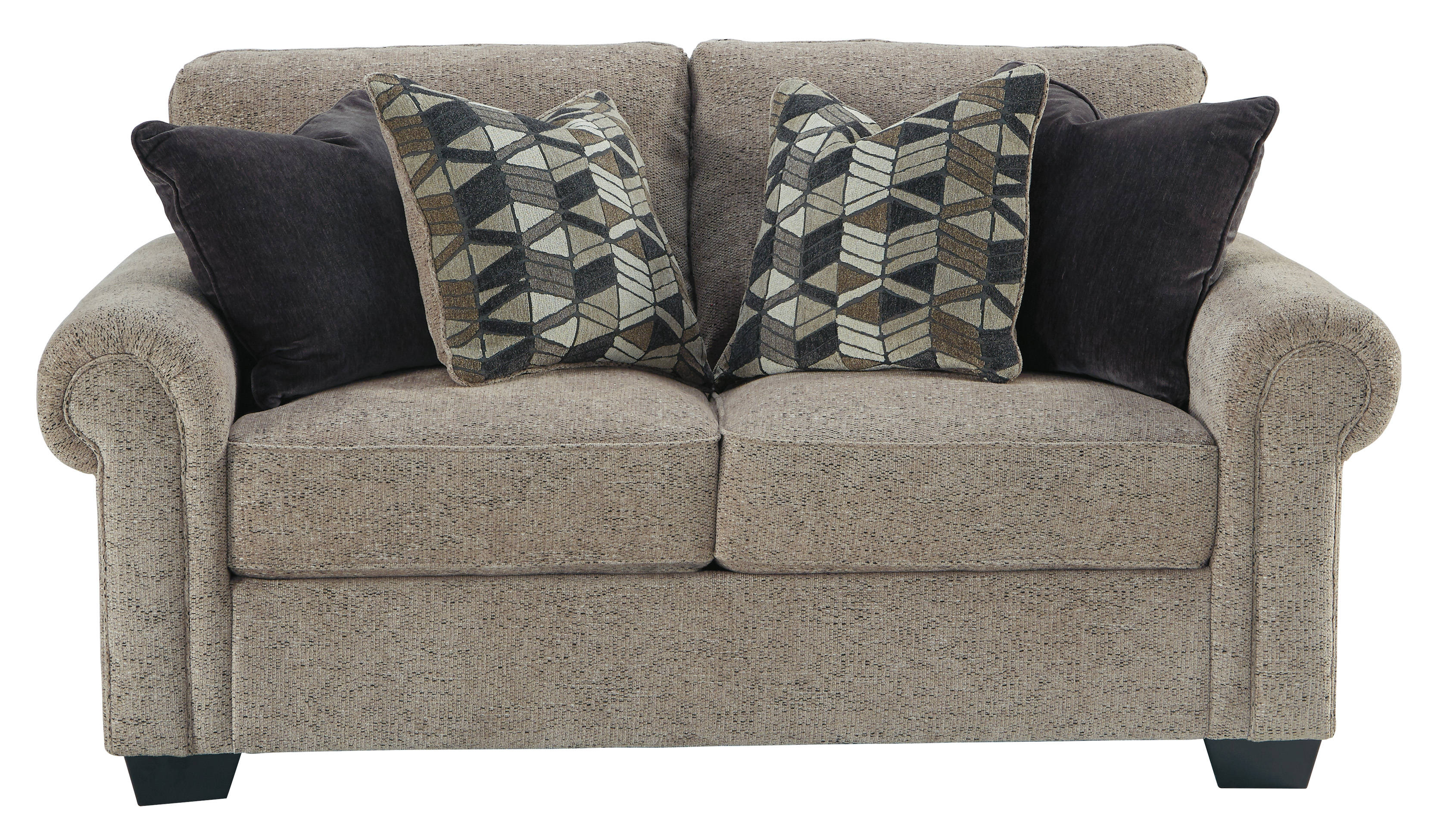 Ashley Furniture Fehmarn Toffee Loveseat Click To Enlarge