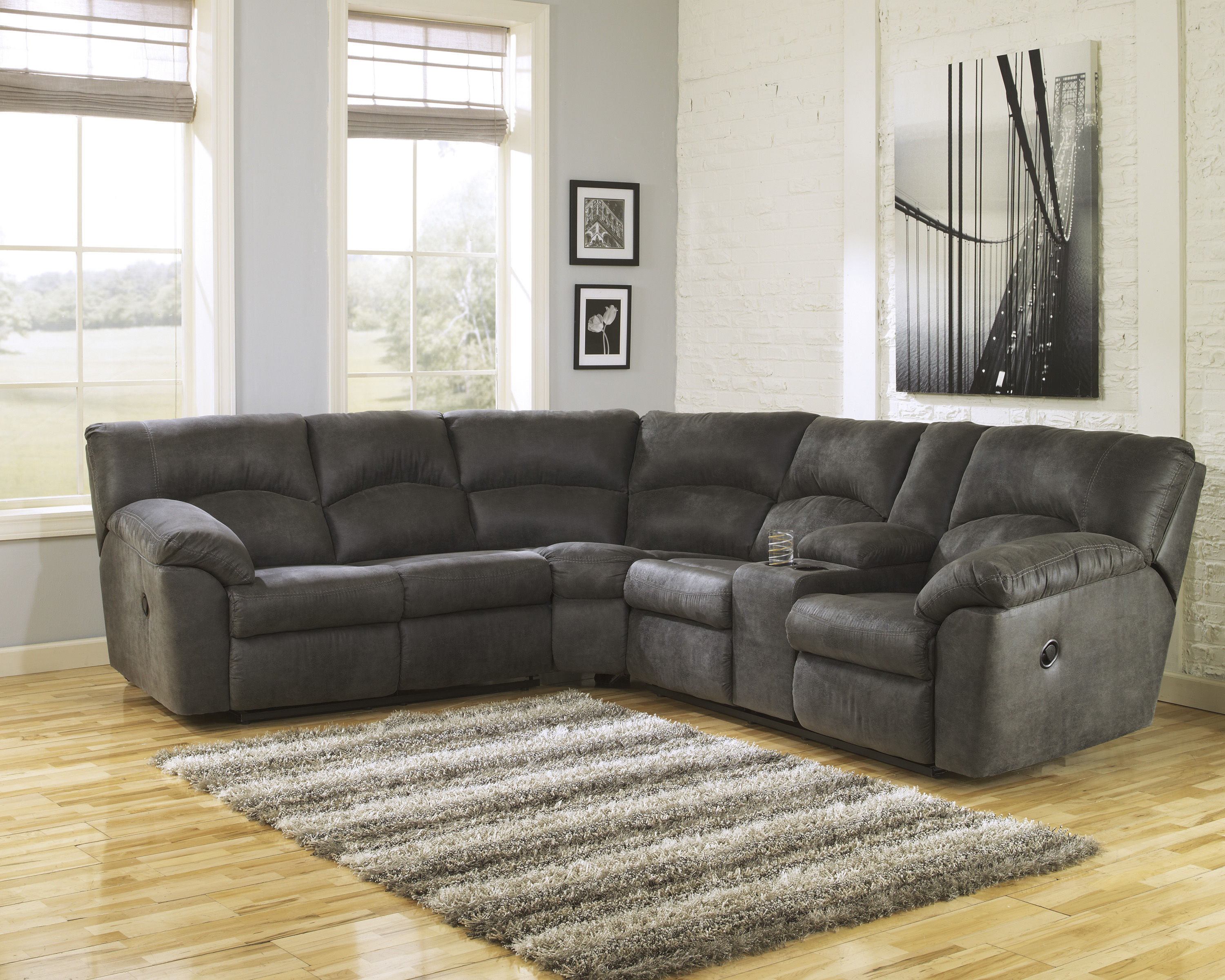 Ashley Furniture Tambo Pewter Sectional The Classy Home
