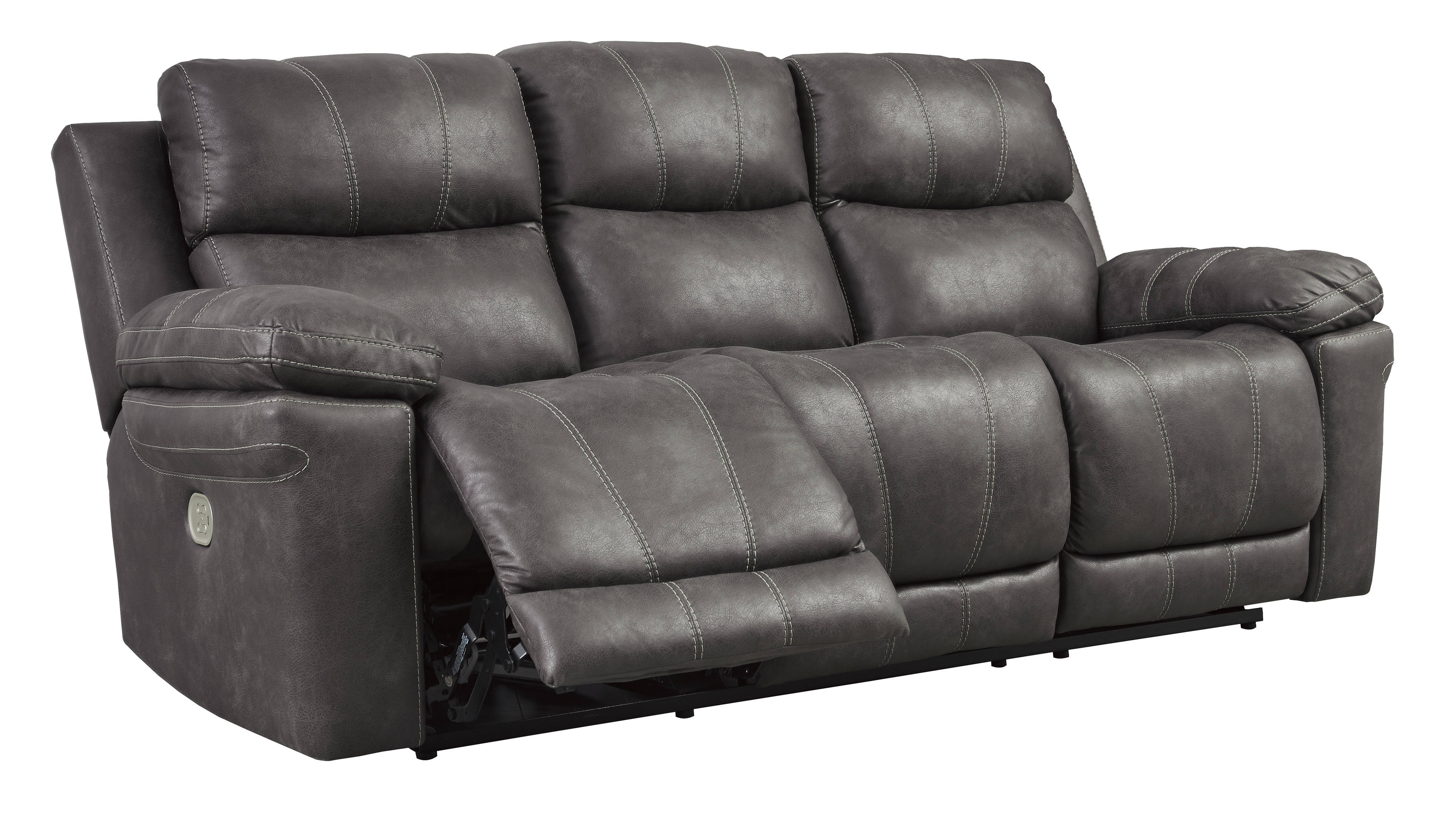 Enjoyable Ashley Furniture Erlangen Midnight Power Reclining Sofa With Adjustable Headrest Home Interior And Landscaping Mentranervesignezvosmurscom
