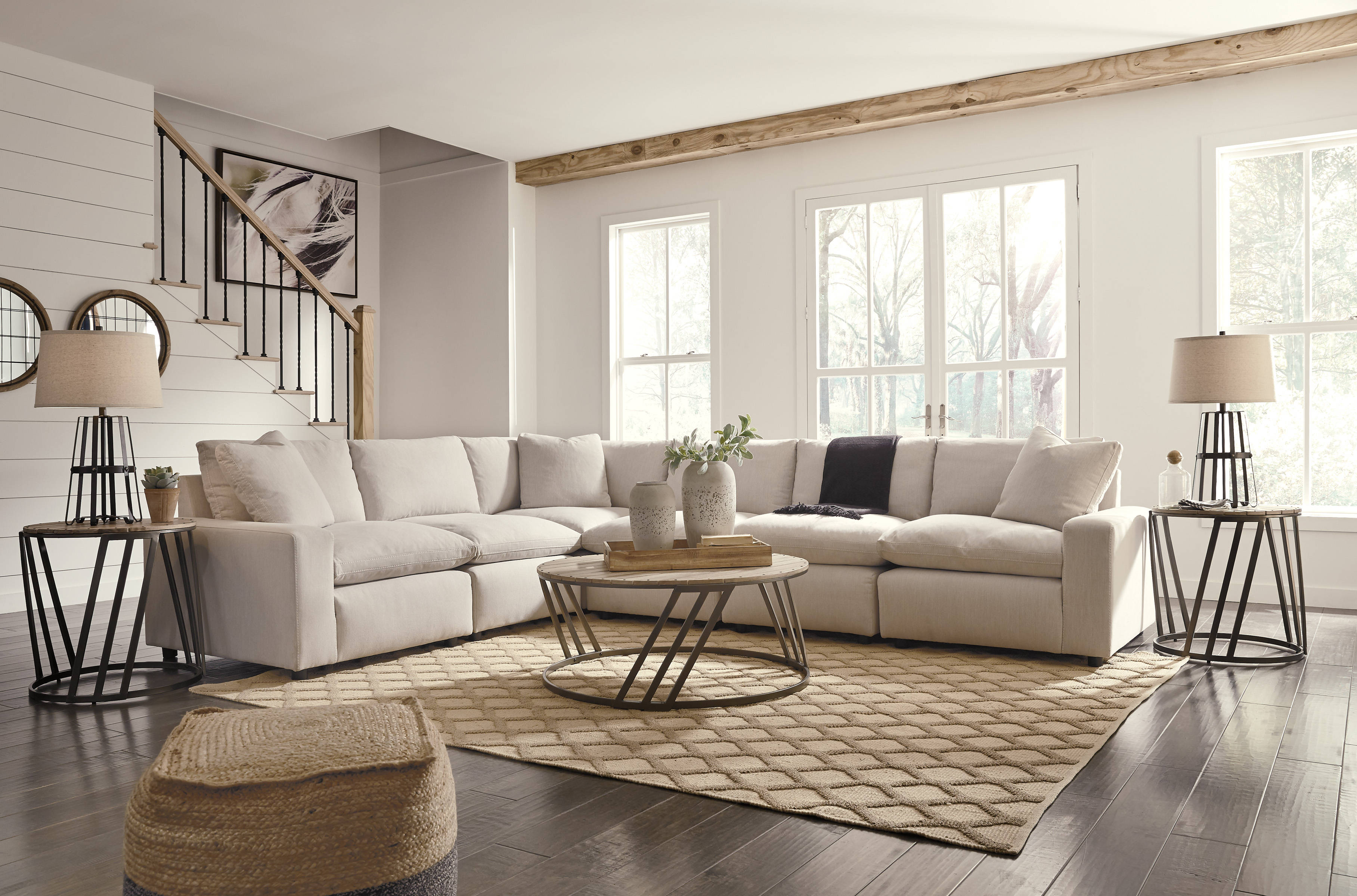 Ashley Furniture Savesto Ivory 6pc Sectional The Classy Home