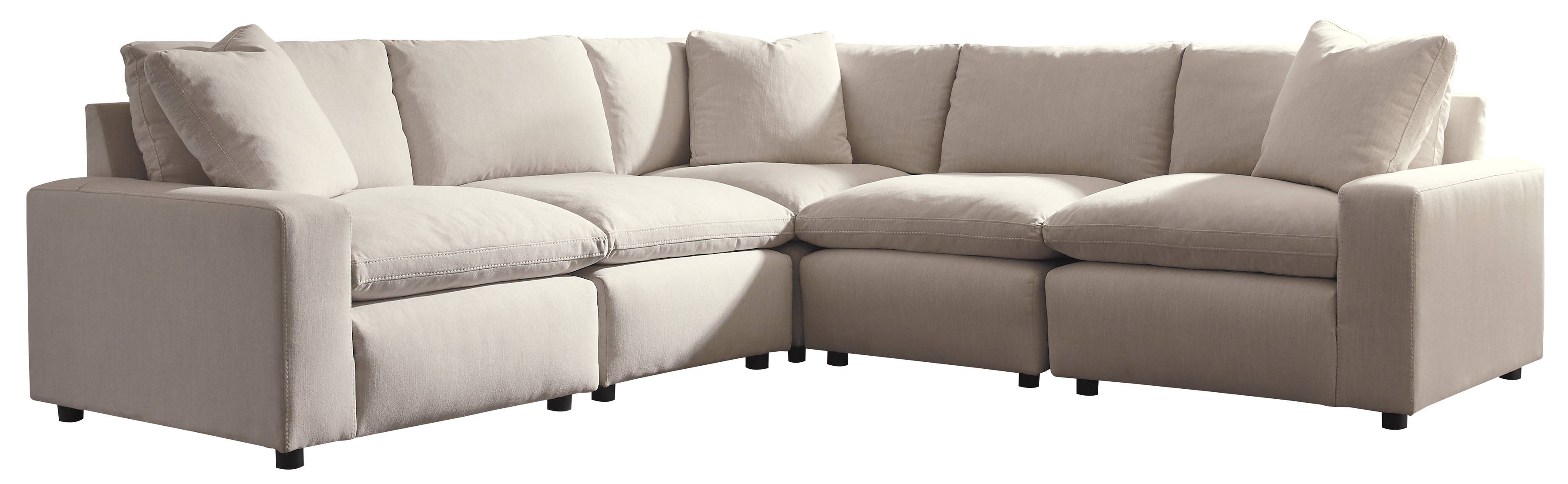 Ashley Furniture Savesto Ivory 5pc Sectional The Classy Home