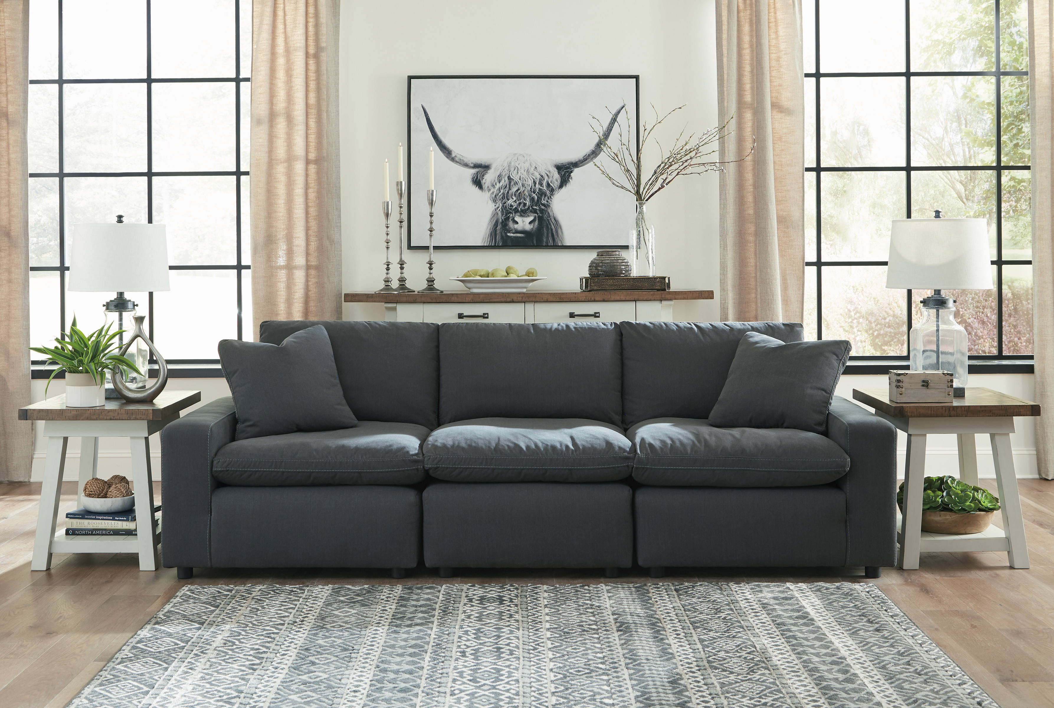 Amazing Ashley Furniture Savesto Charcoal Sofa Squirreltailoven Fun Painted Chair Ideas Images Squirreltailovenorg