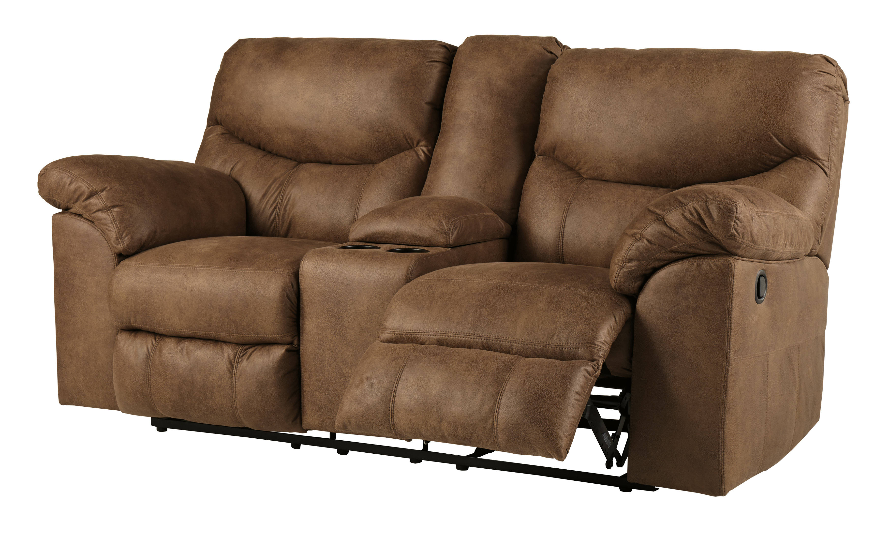 Ashley Furniture Boxberg Bark Double Recliner Loveseat With Console Click To Enlarge