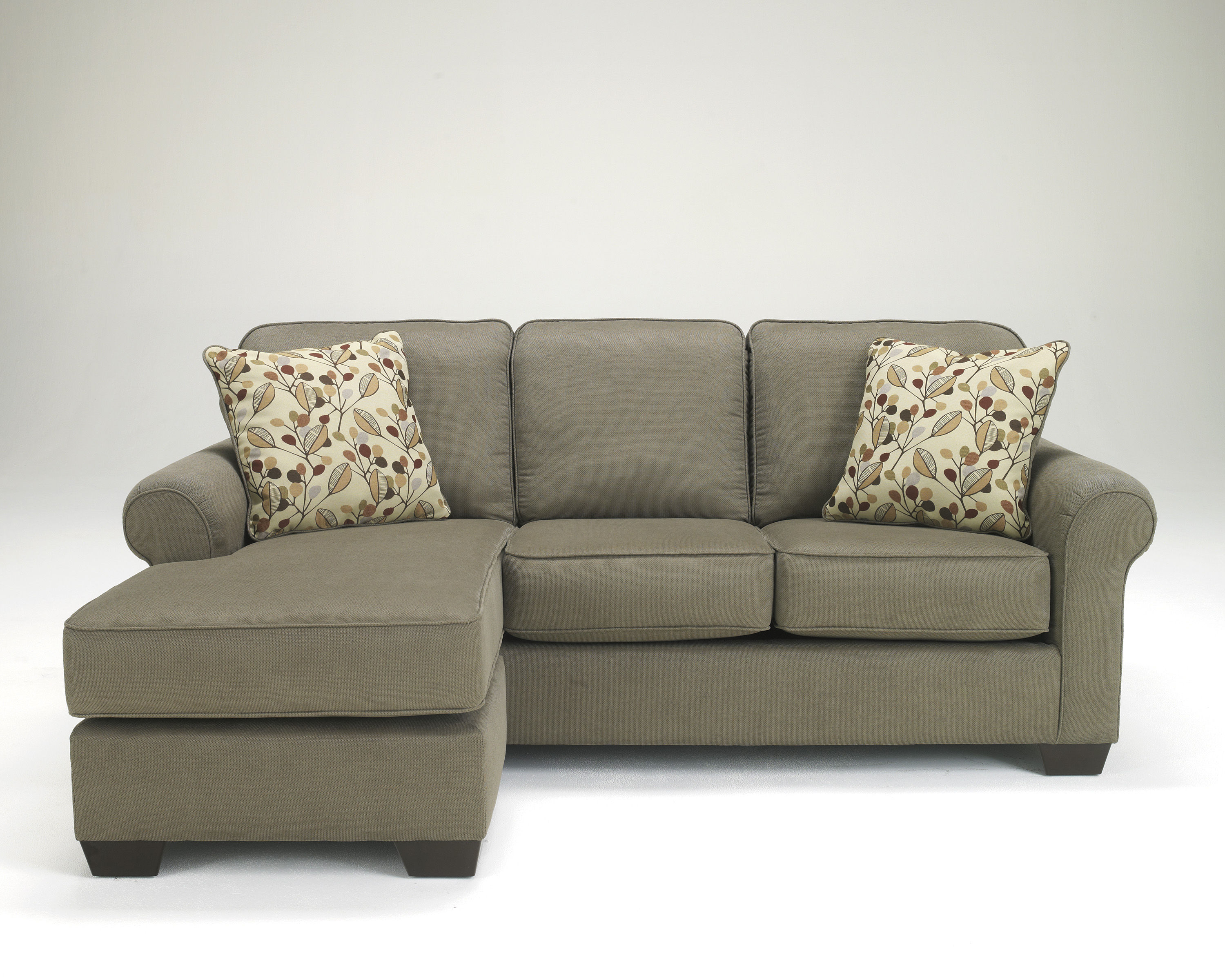 Benchcraft danely dusk sofa chaise polyester sectional the classy home Loveseat chaise sectional