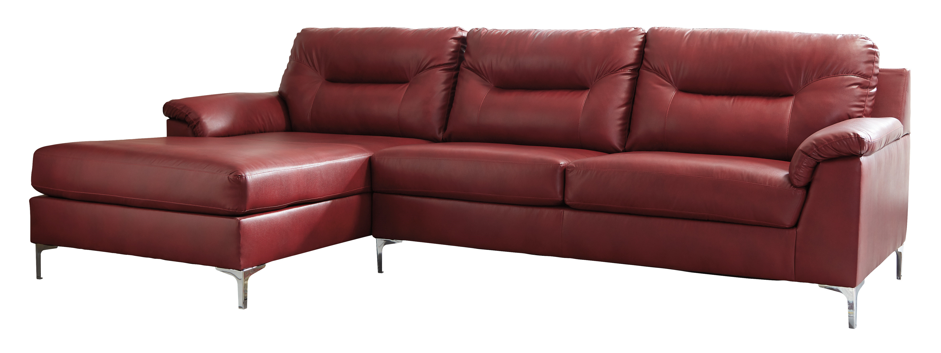Ashley Furniture Tensas Crimson LAF Sectional | The Classy Home